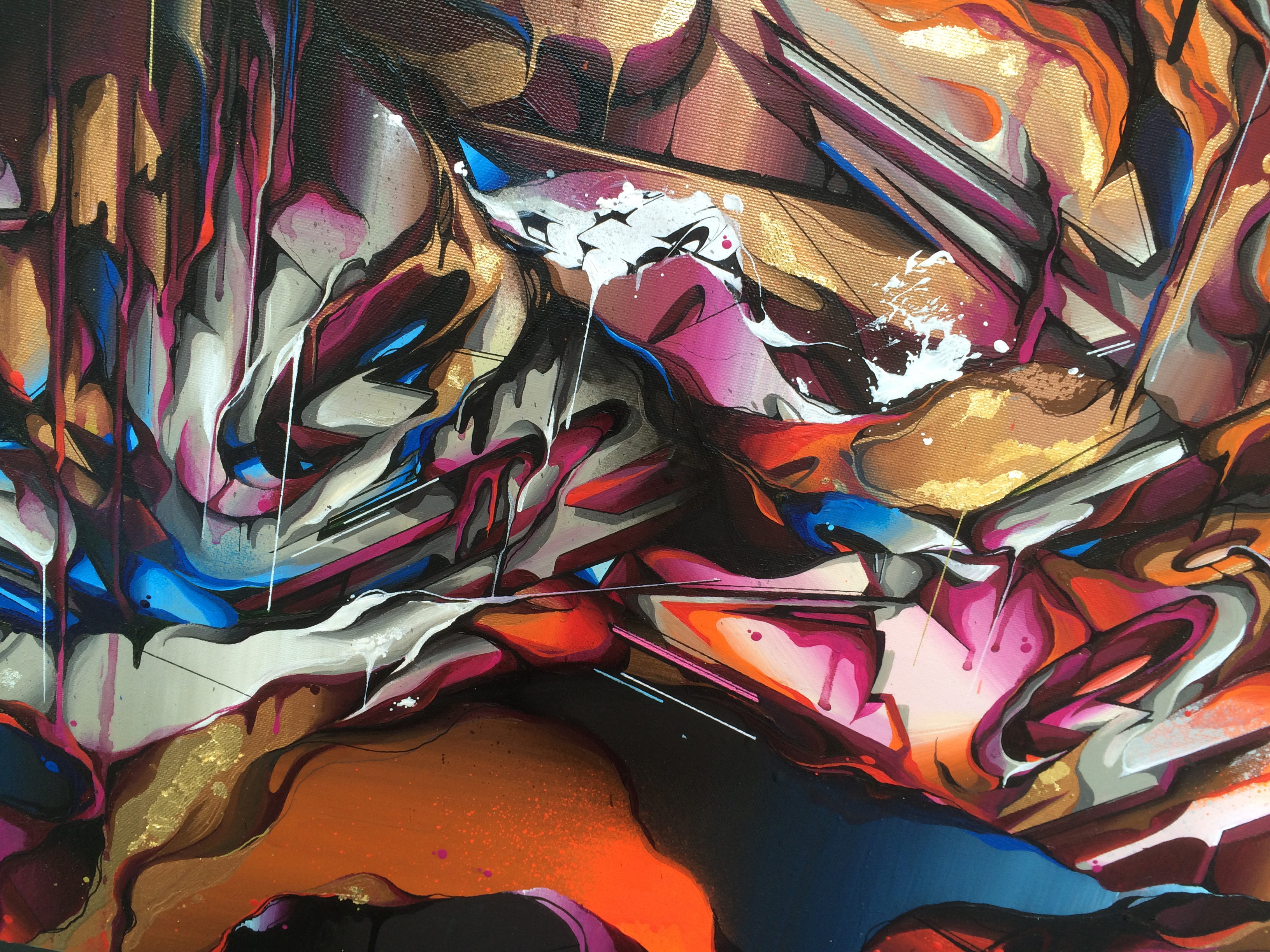 A work by Does - Detail canvas tempest 3