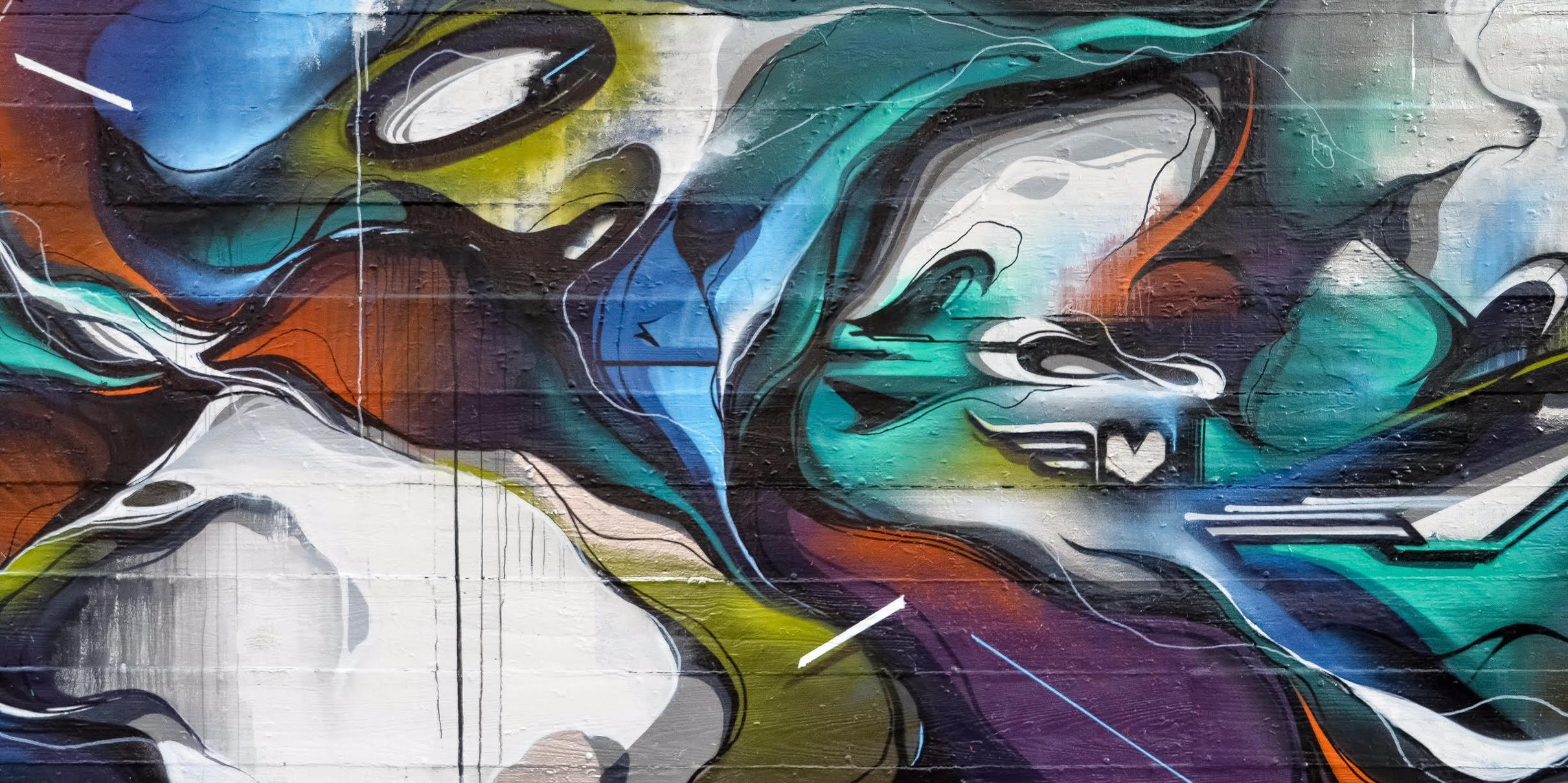 A work by Does - Chicago usa mural detail 2