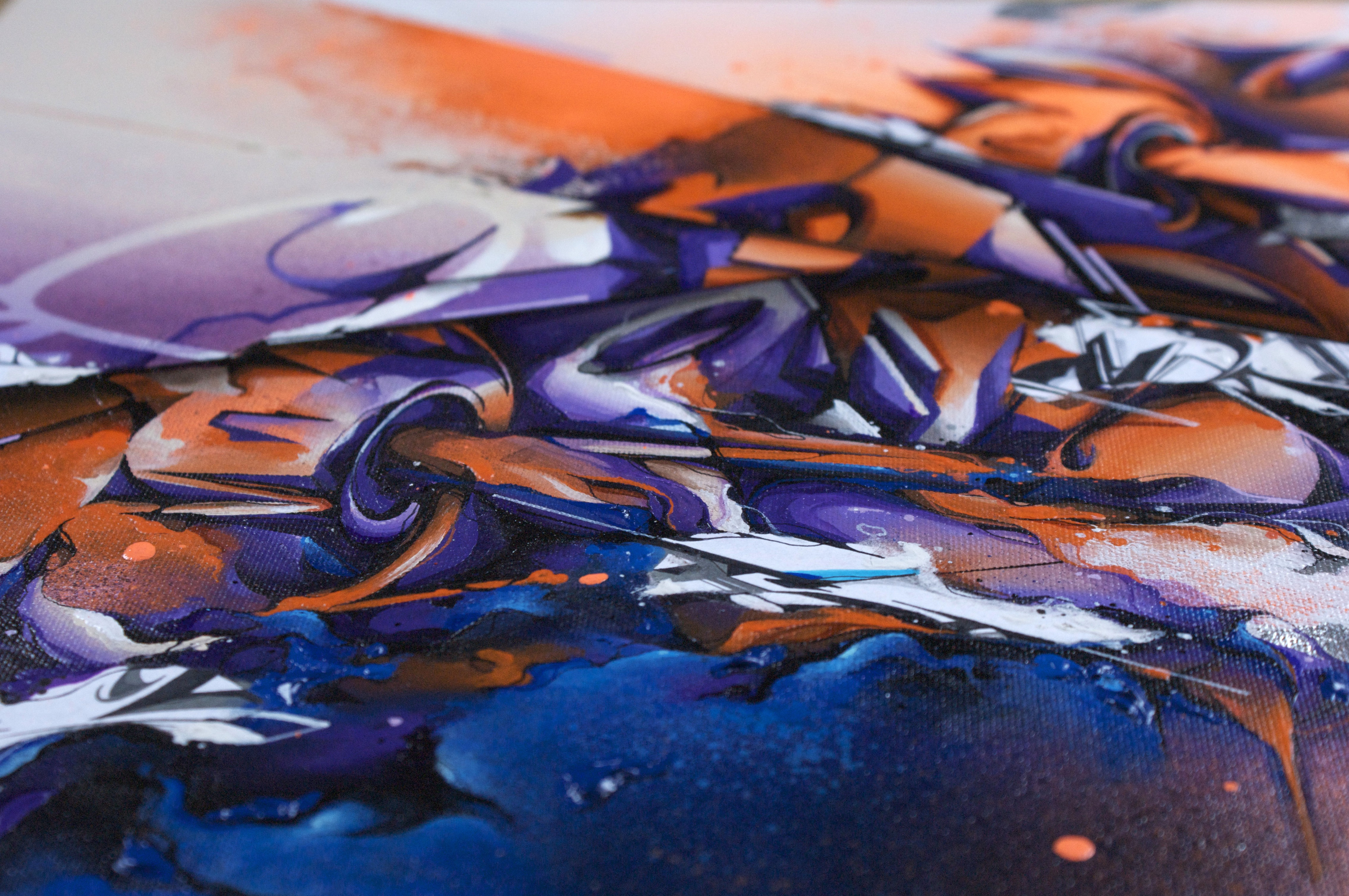 A work by Does - Migraine canvas detail 4
