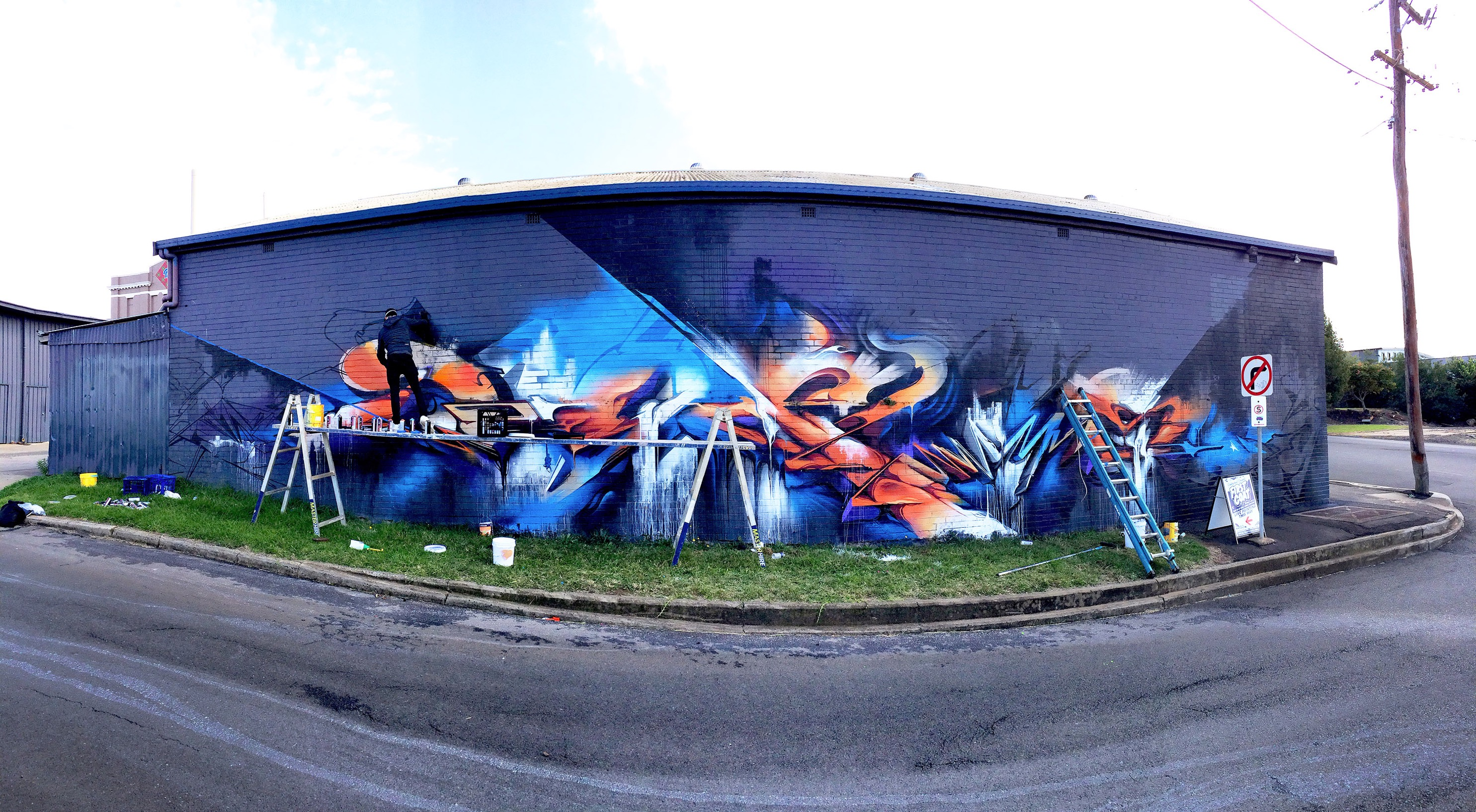 A work by Does - Toowoomba australia mural 1