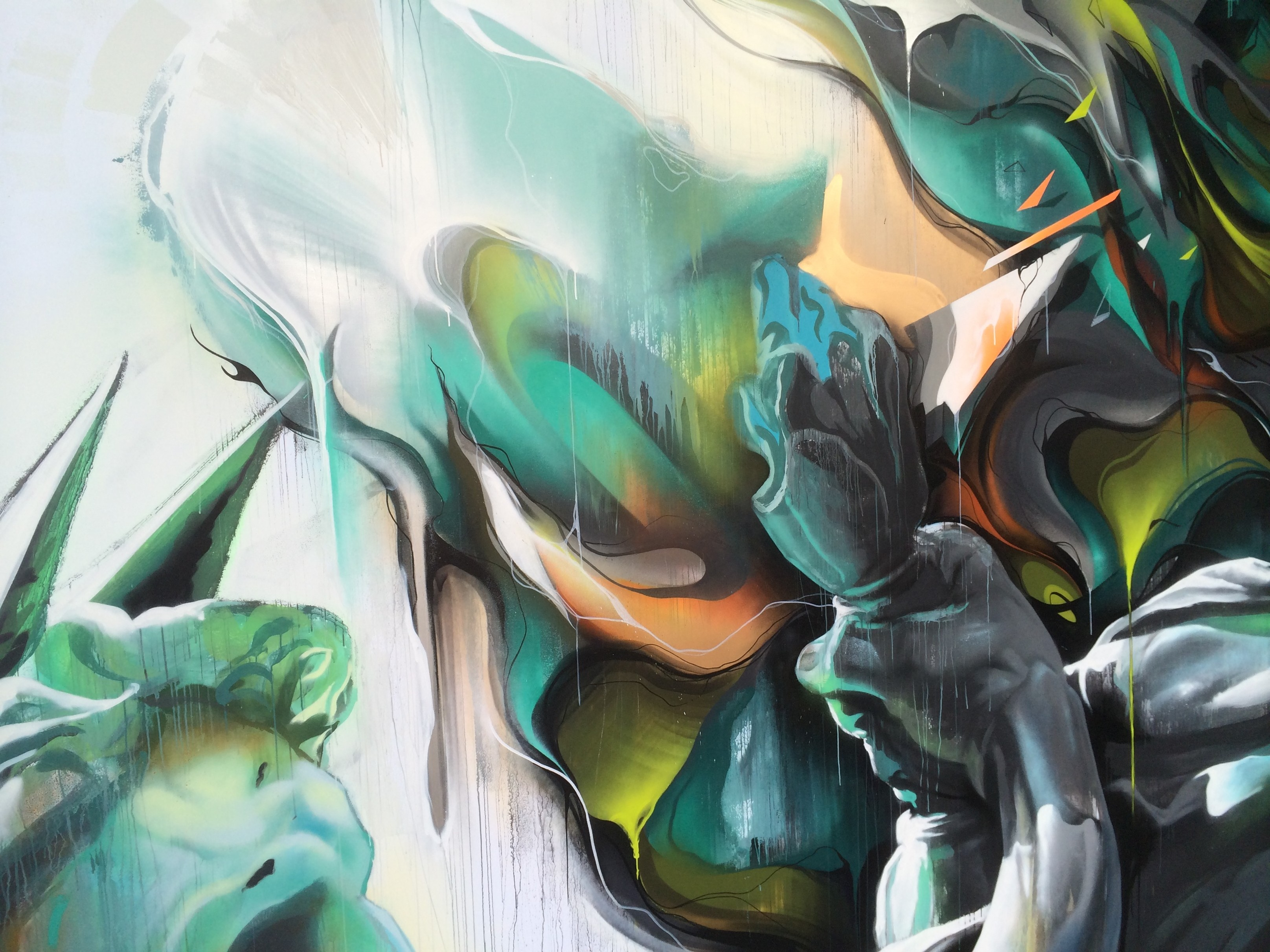 A work by Does - Ilh festival the hague the netherlands canvas detail 1