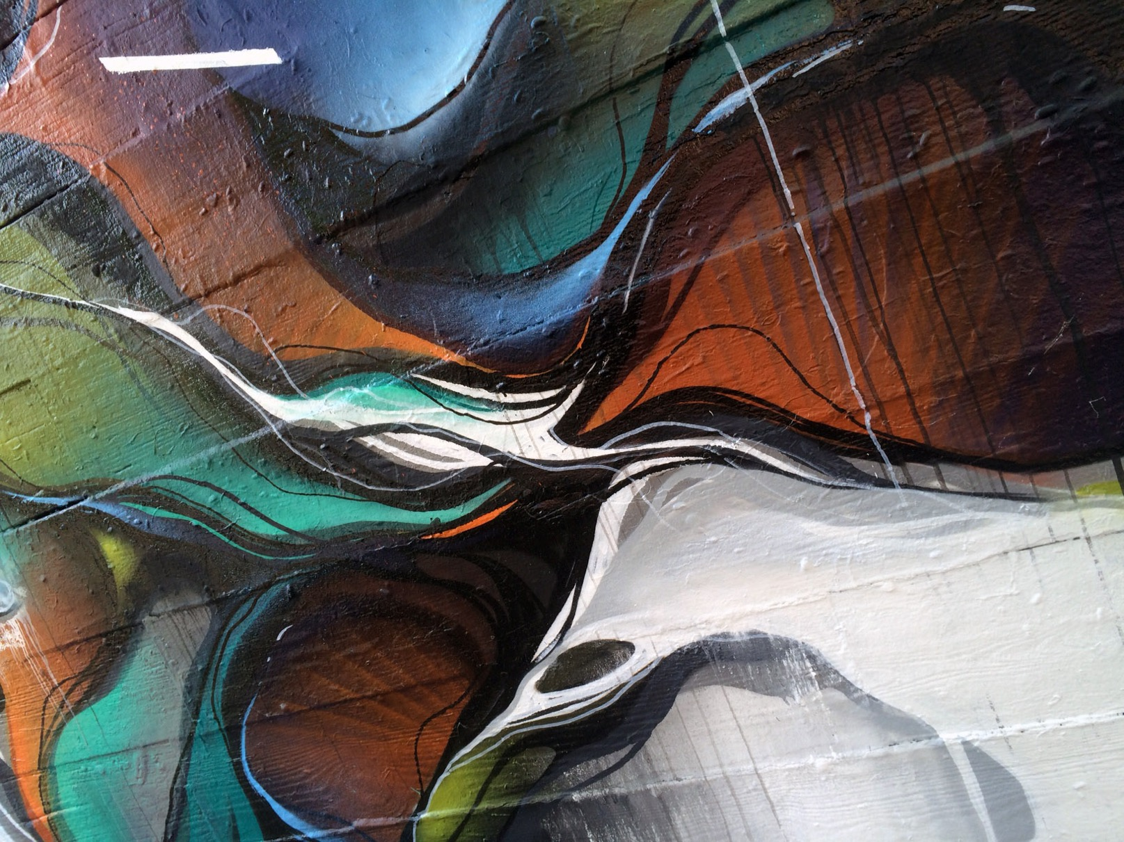 A work by Does - Chicago usa mural detail 3
