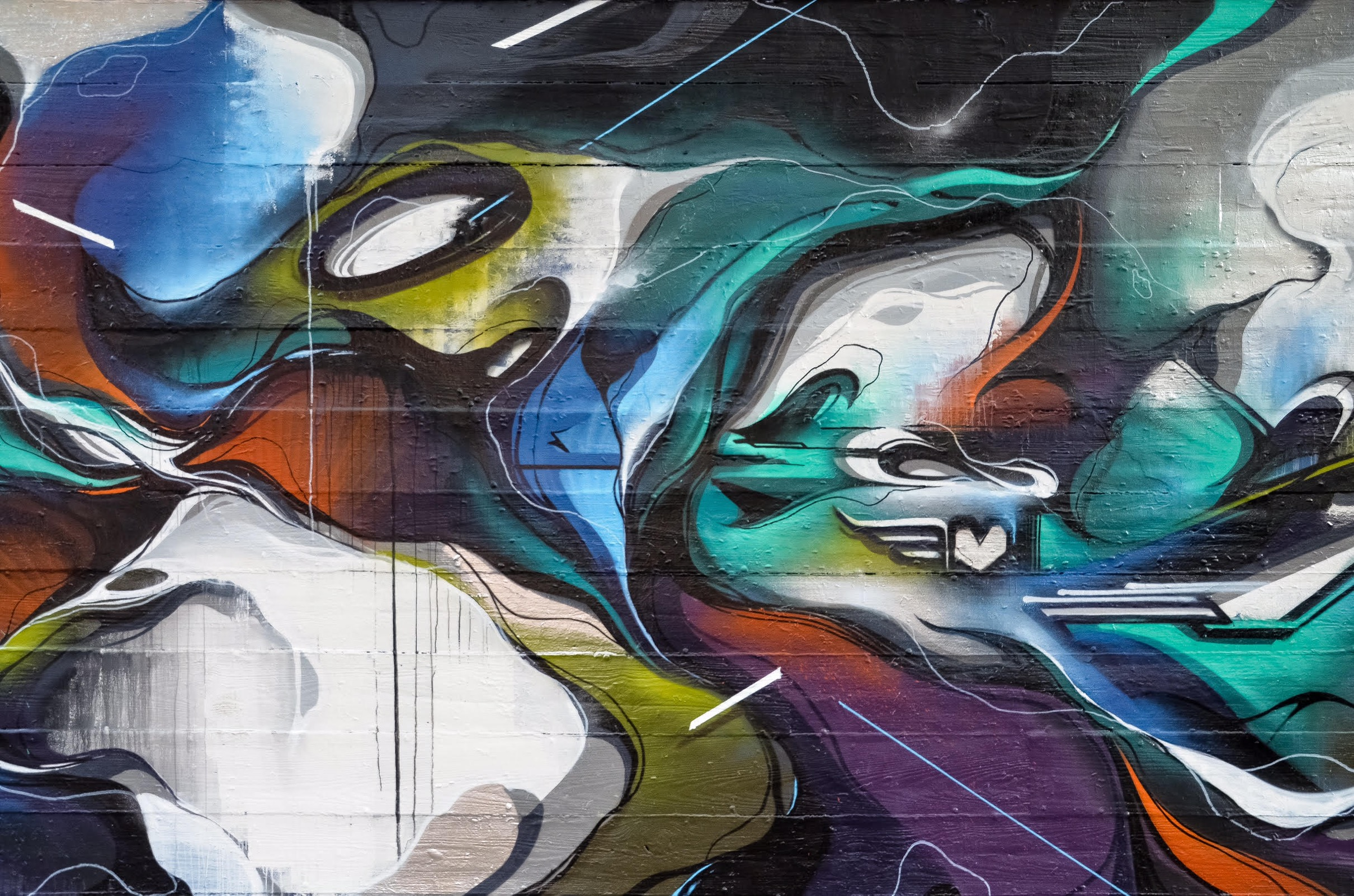 A work by Does - Chicago usa mural detail 1