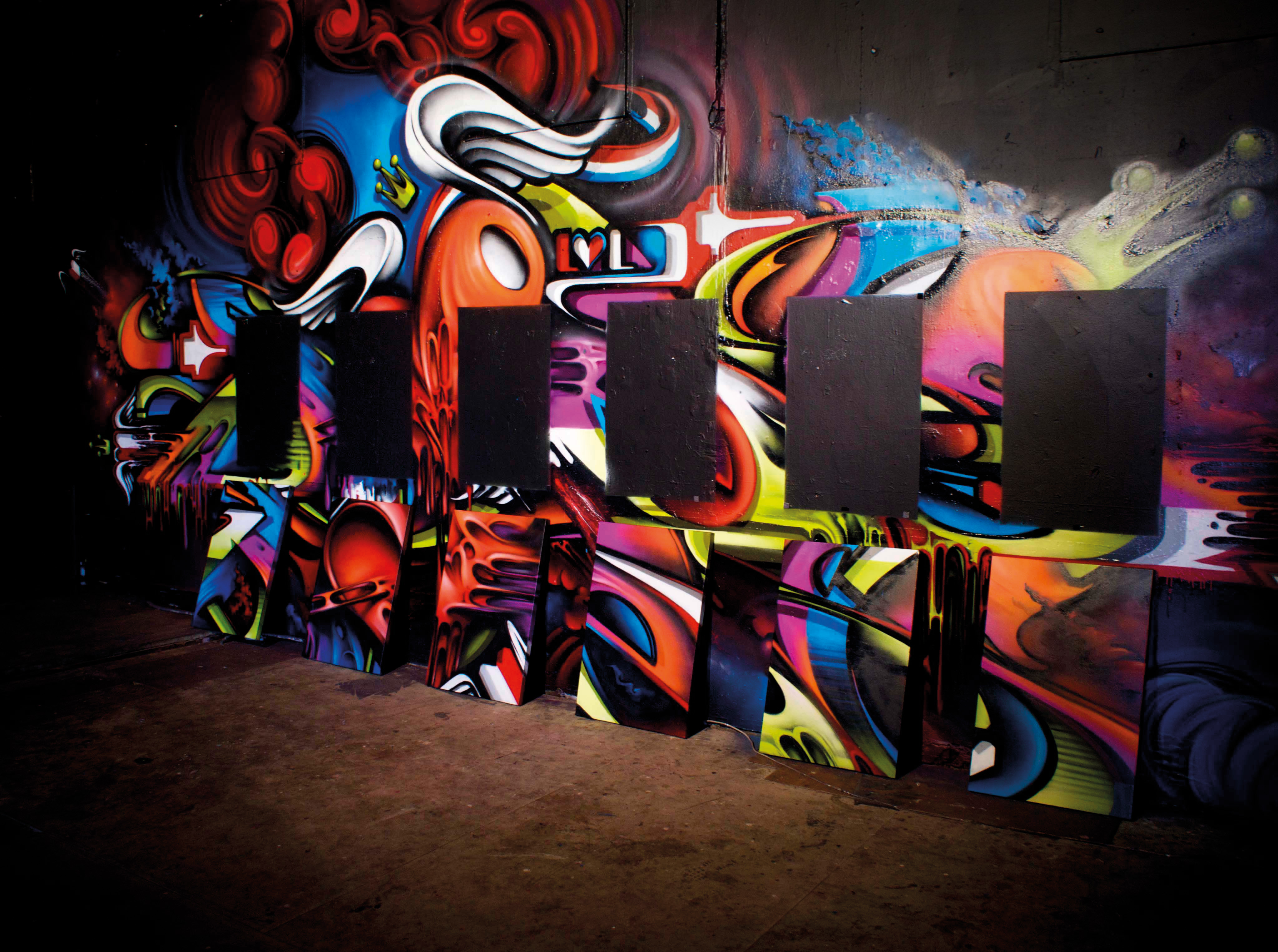 A work by Does - Sydney australia i love letters exhibition canvas mural