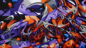 Canvas up in flames detail 5