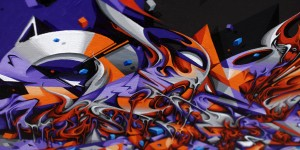Canvas up in flames detail 3