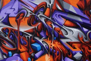 Canvas up in flames detail 4