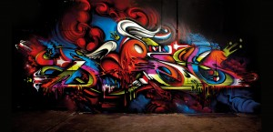 Sydney australia i love letters exhibition canvas mural lofi