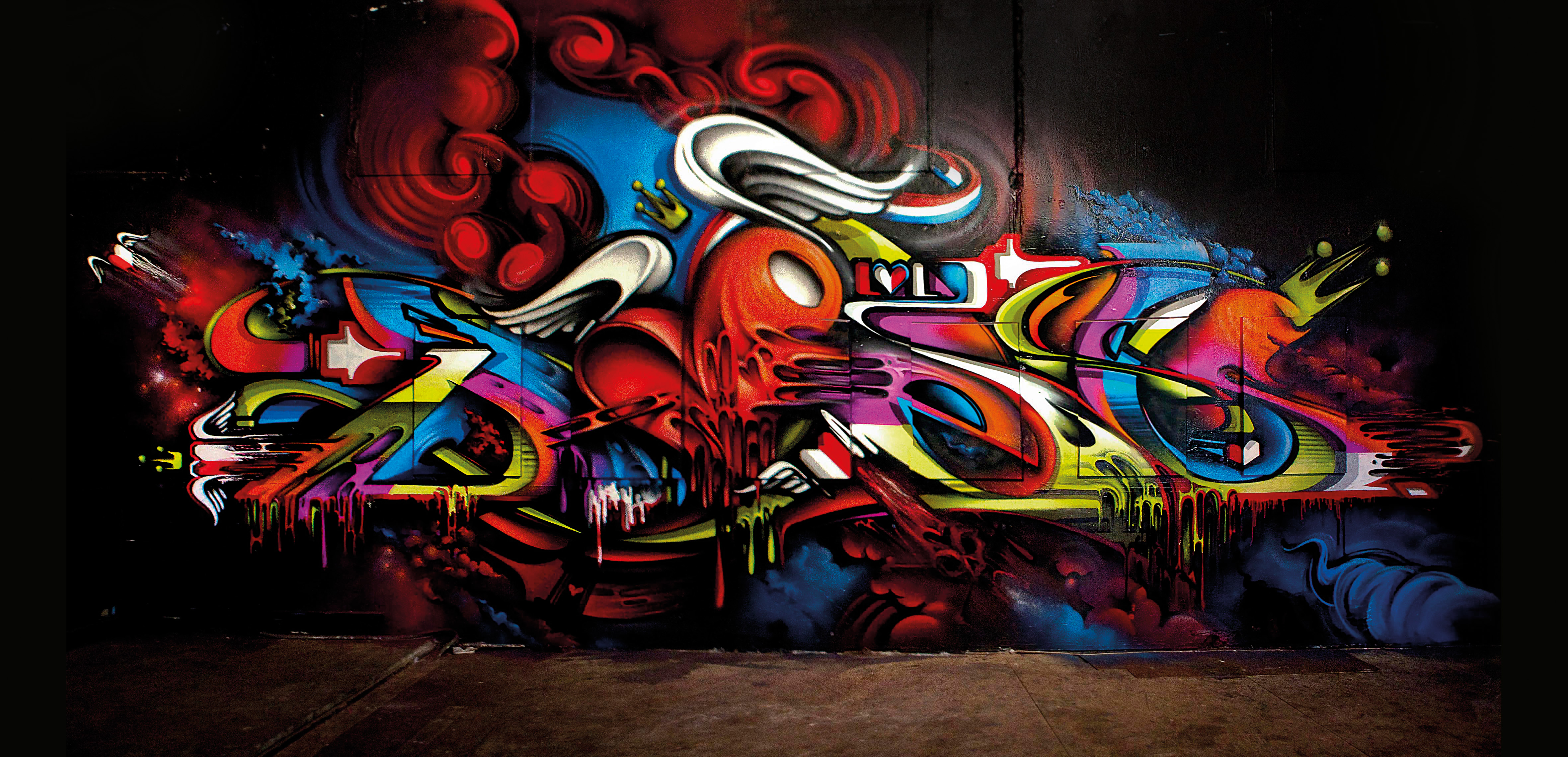 A work by Does - Sydney australia i love letters exhibition canvas mural lofi