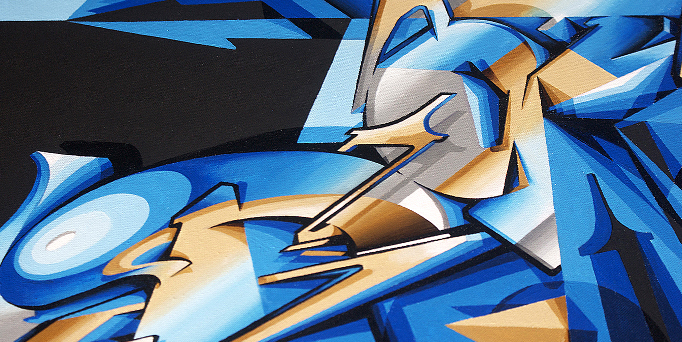 A work by Does - Aftershock canvas detail 1