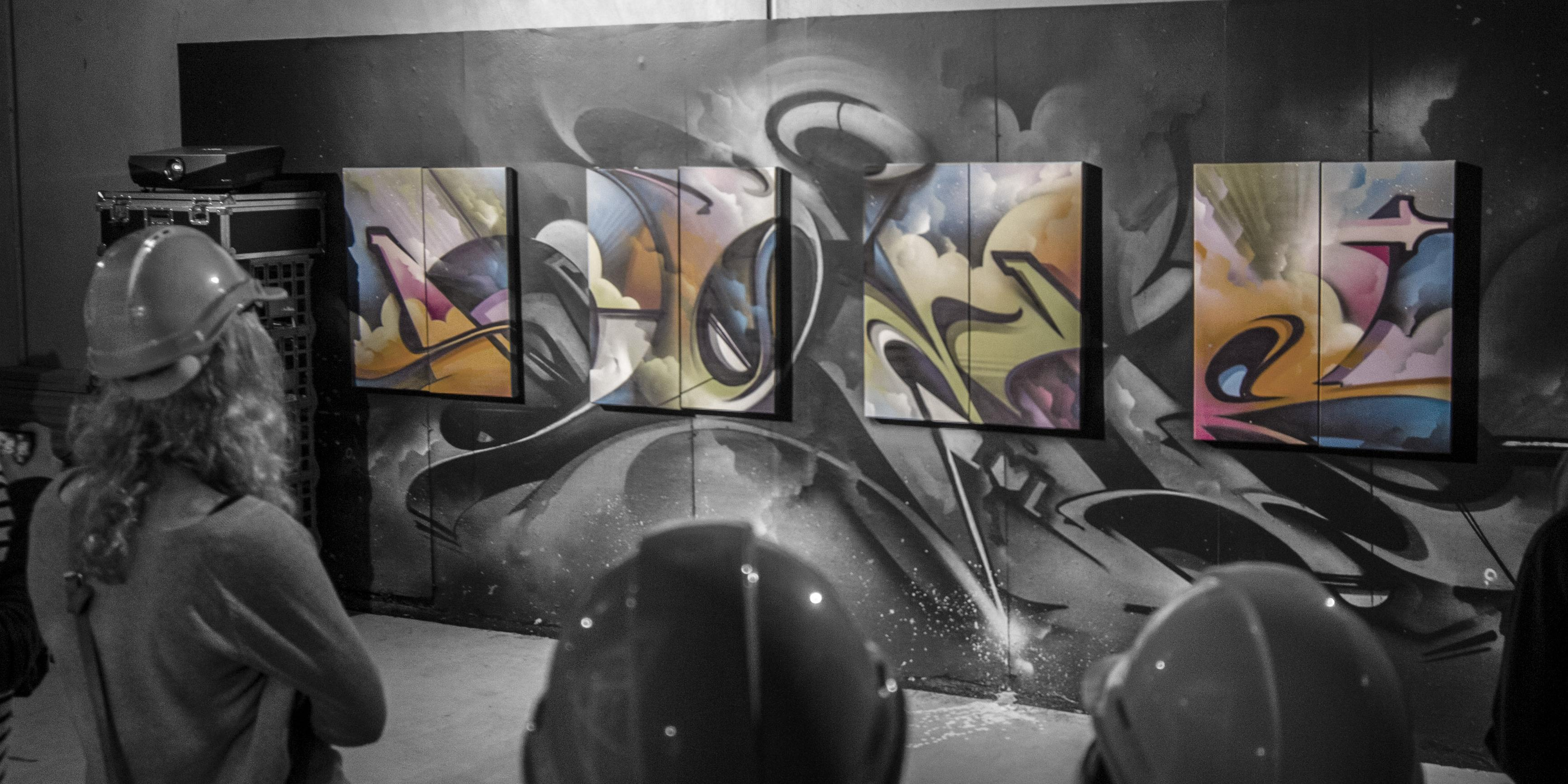 A work by Does - Endless Perspectives opening night melbourne australia london canvas 1