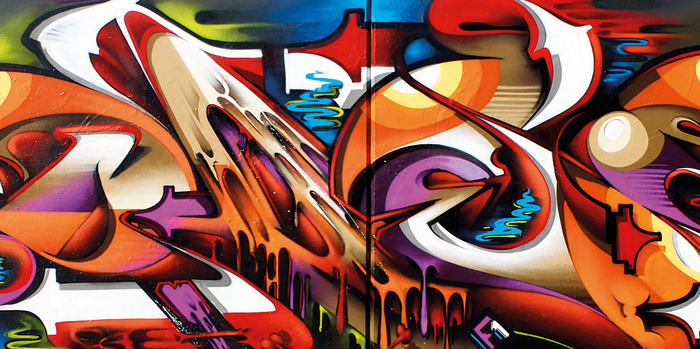 A work by Does - Melbourne australia detail mural