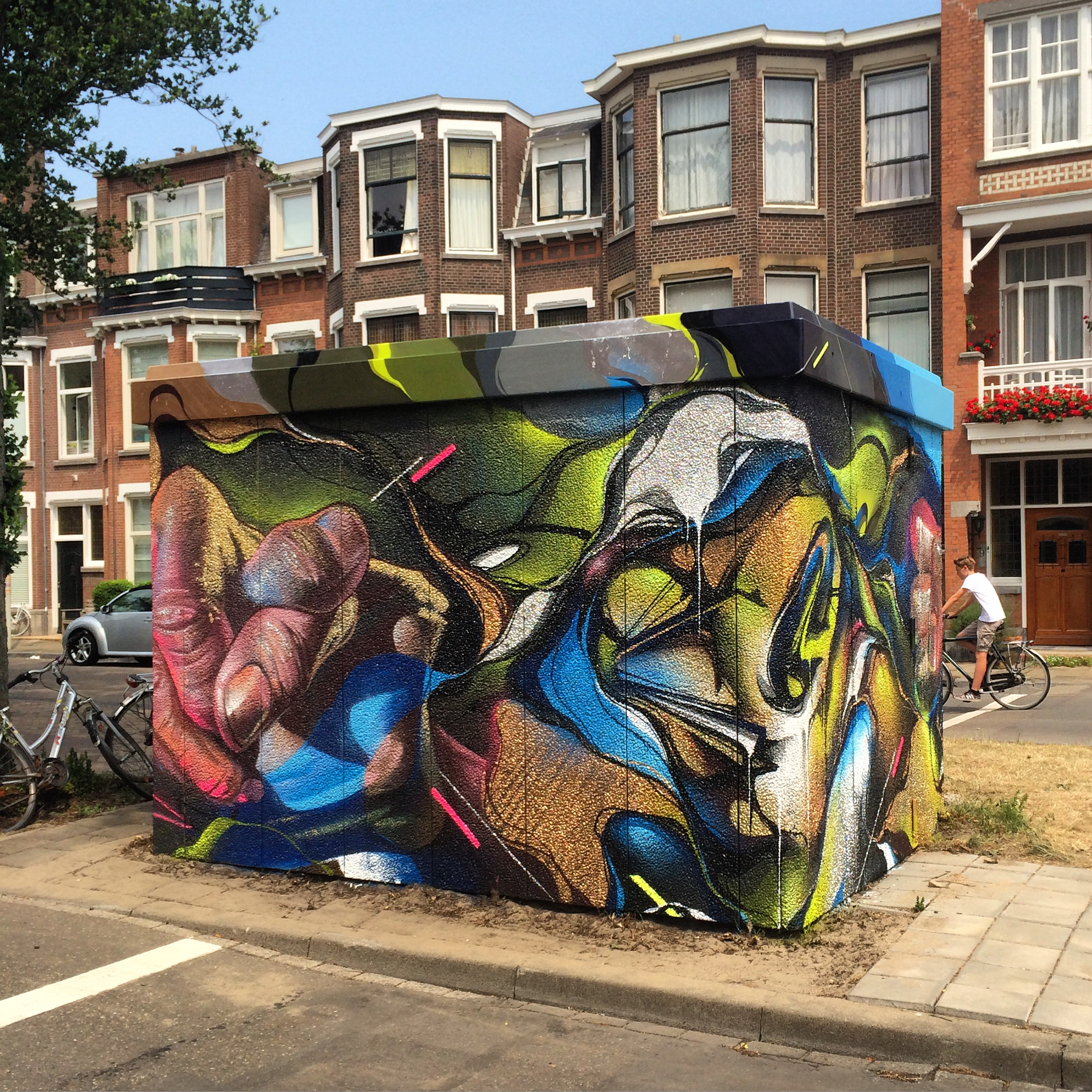 A work by Does - The hague the netherlands mural ieplaan case 2