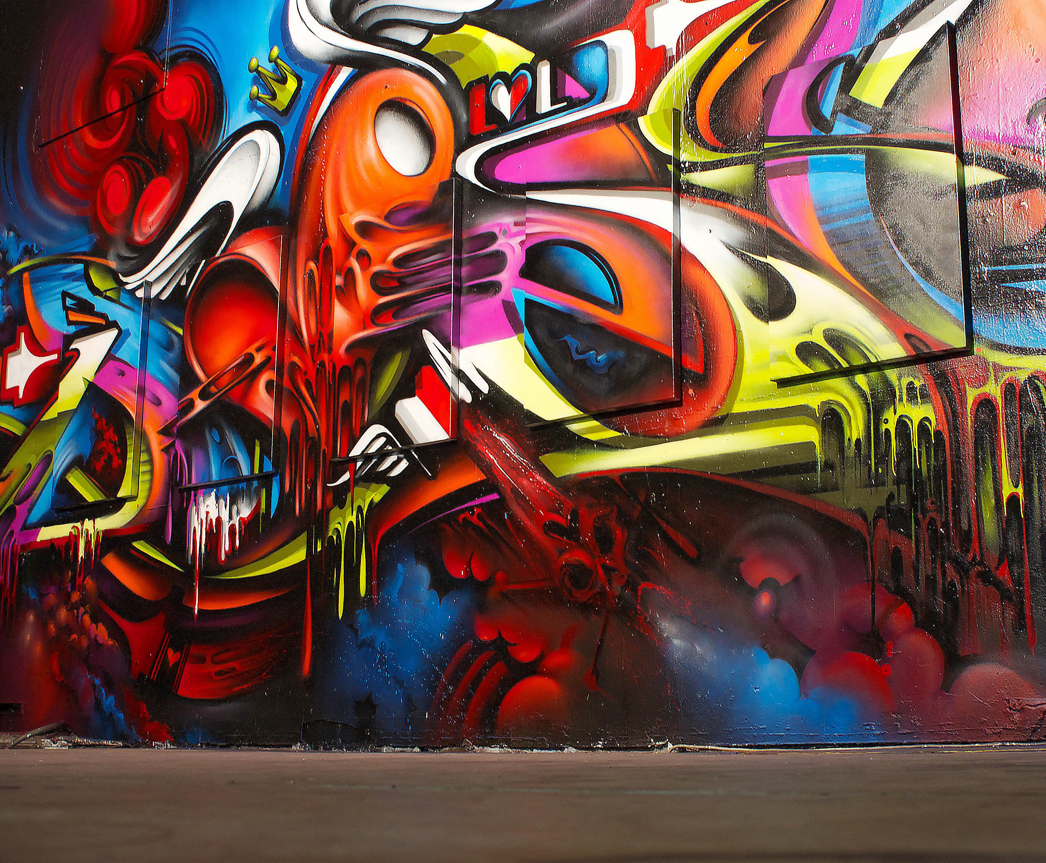 A work by Does - Sydney australia mural detail i love letters exhibition