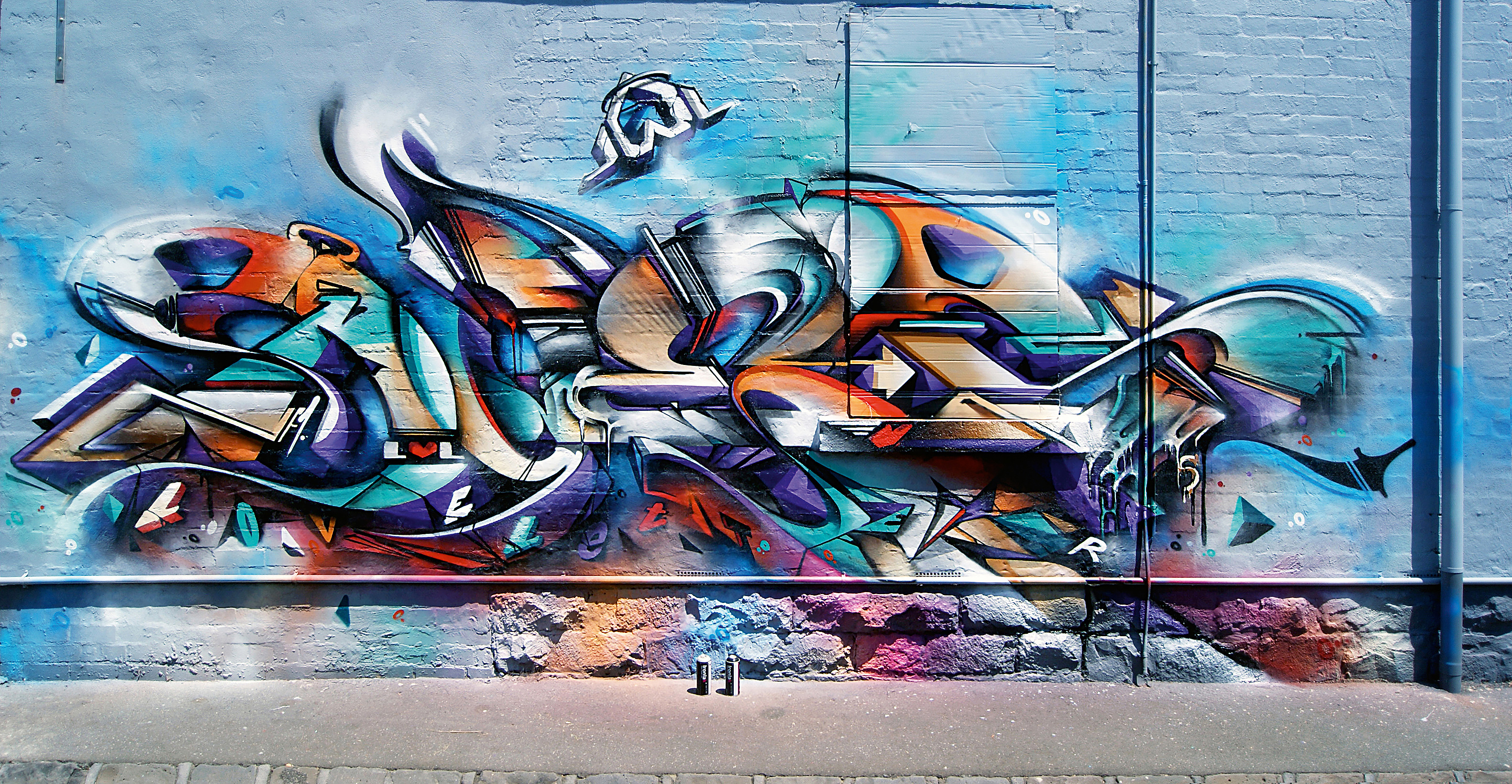 A work by Does - Melbourne australia mural