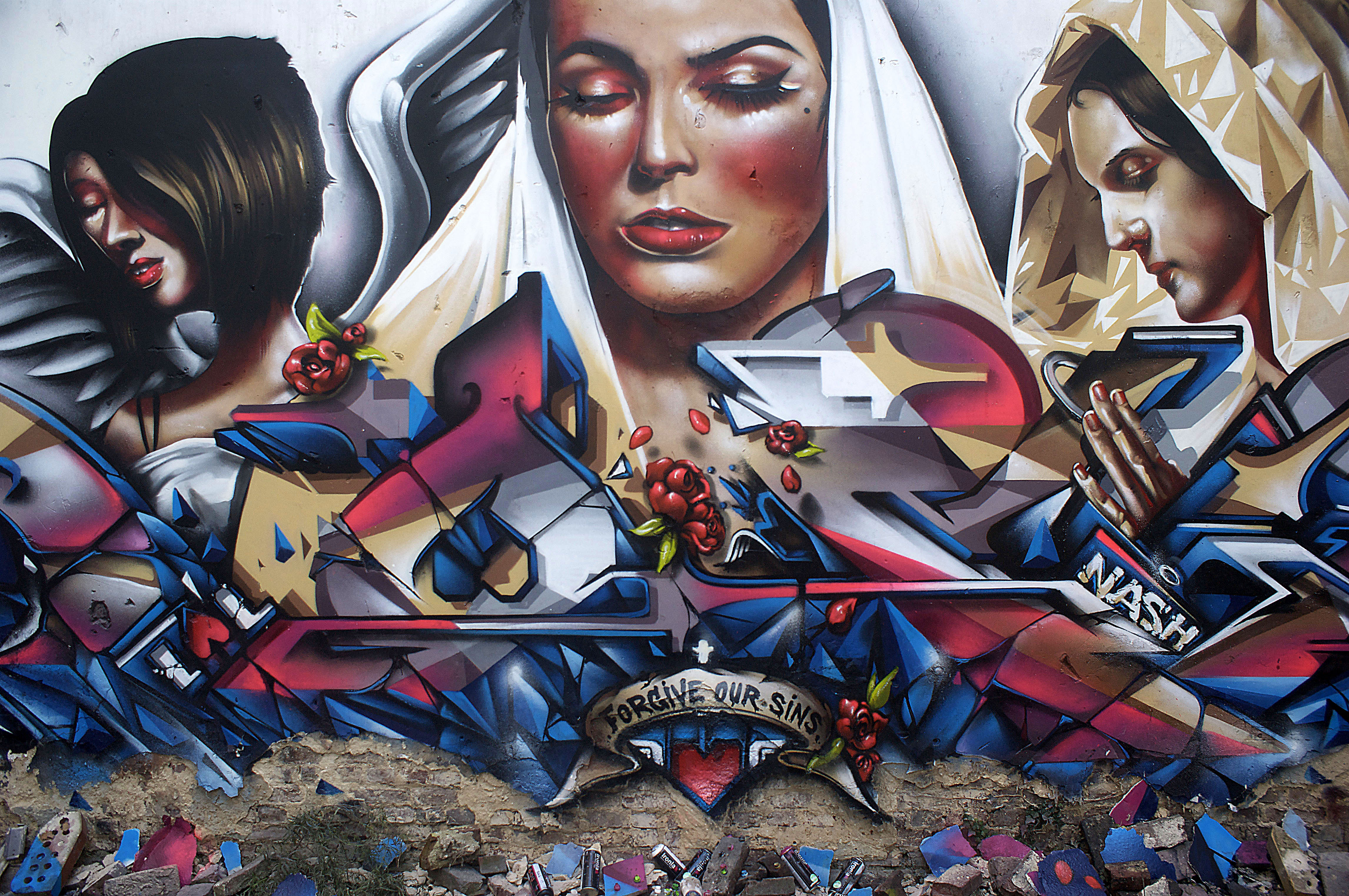 A work by Does - Munstergeleen the netherlands mural detail 4