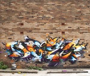 Sydney australia mural bricks