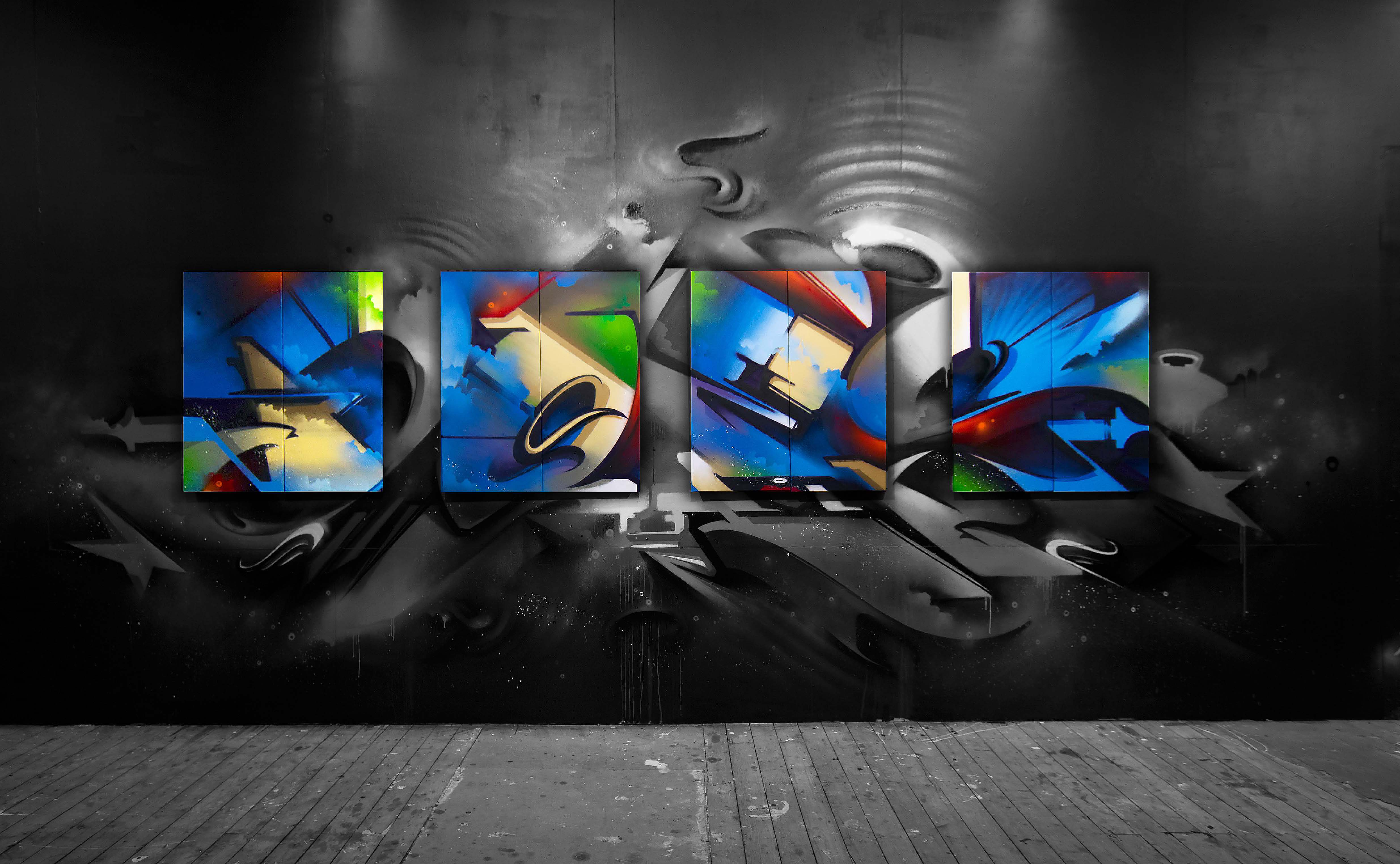 A work by Does - Sydney australia endless perspectives canvas