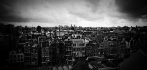Amsterdam the netherlands skyline
