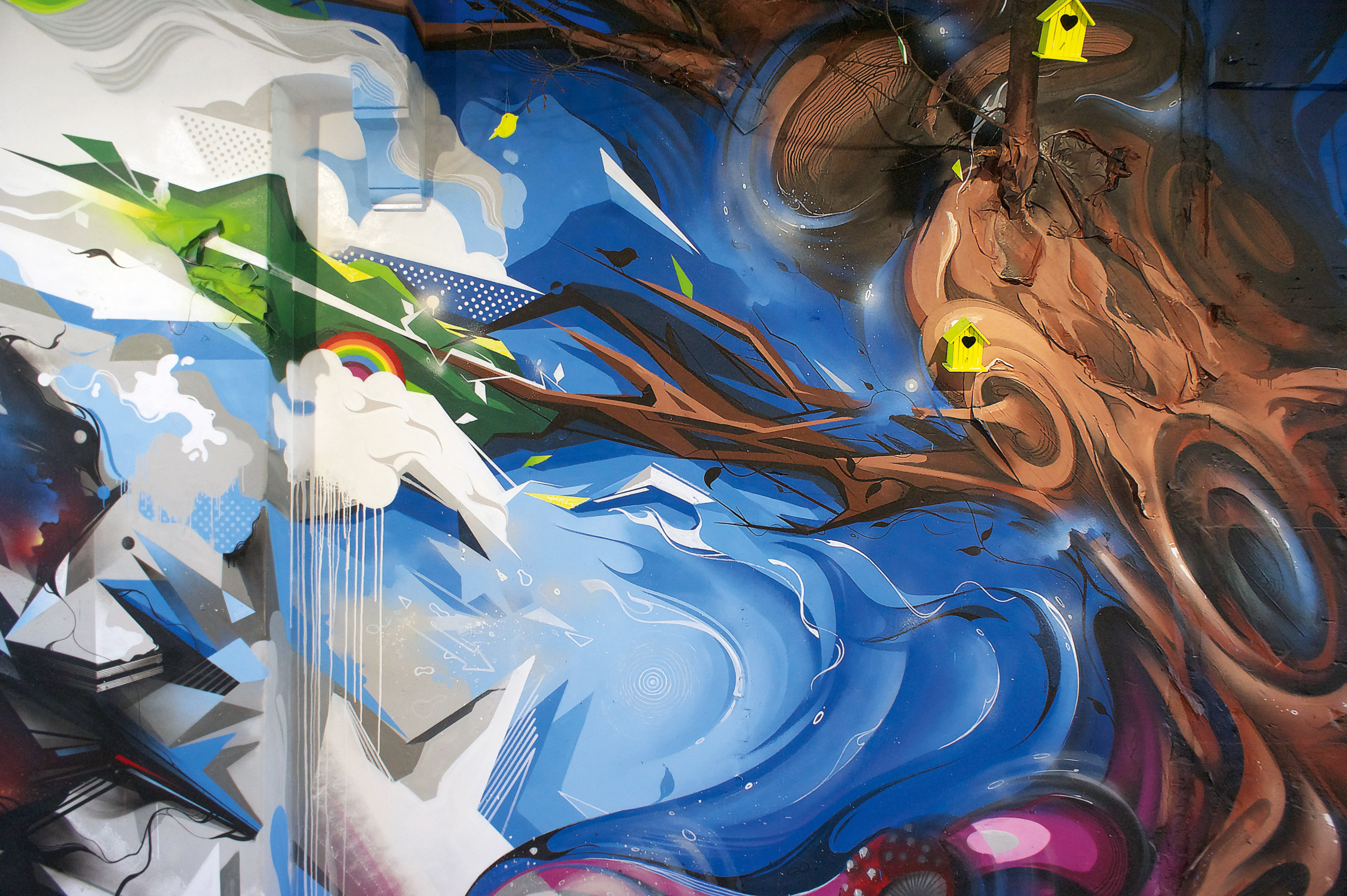 A work by Does - Clashwall amsterdam the netherlands mural detail