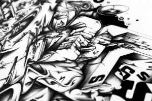 Streets drawing illustration detail 1