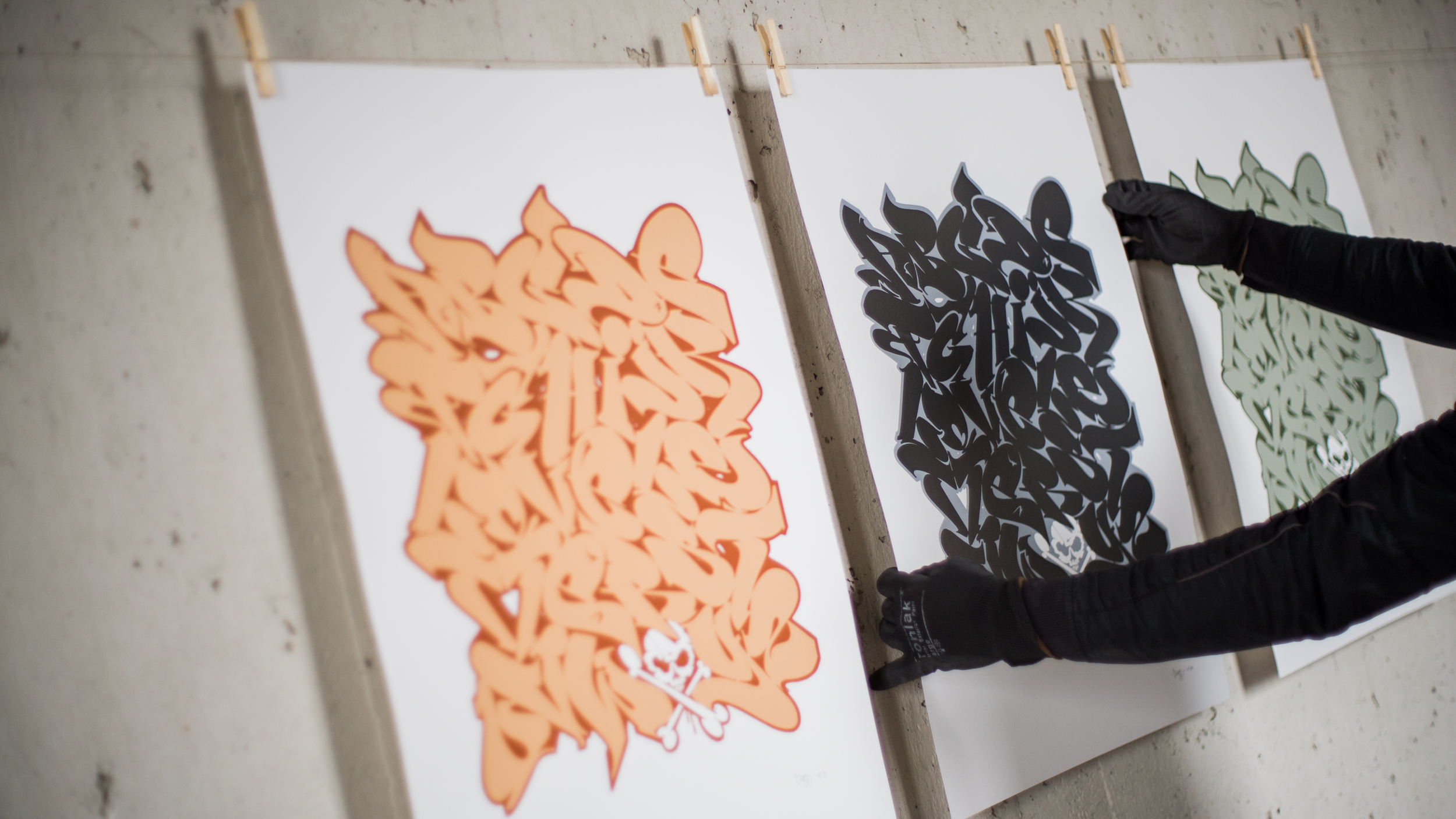 A work by Does - Prints alphabet 2