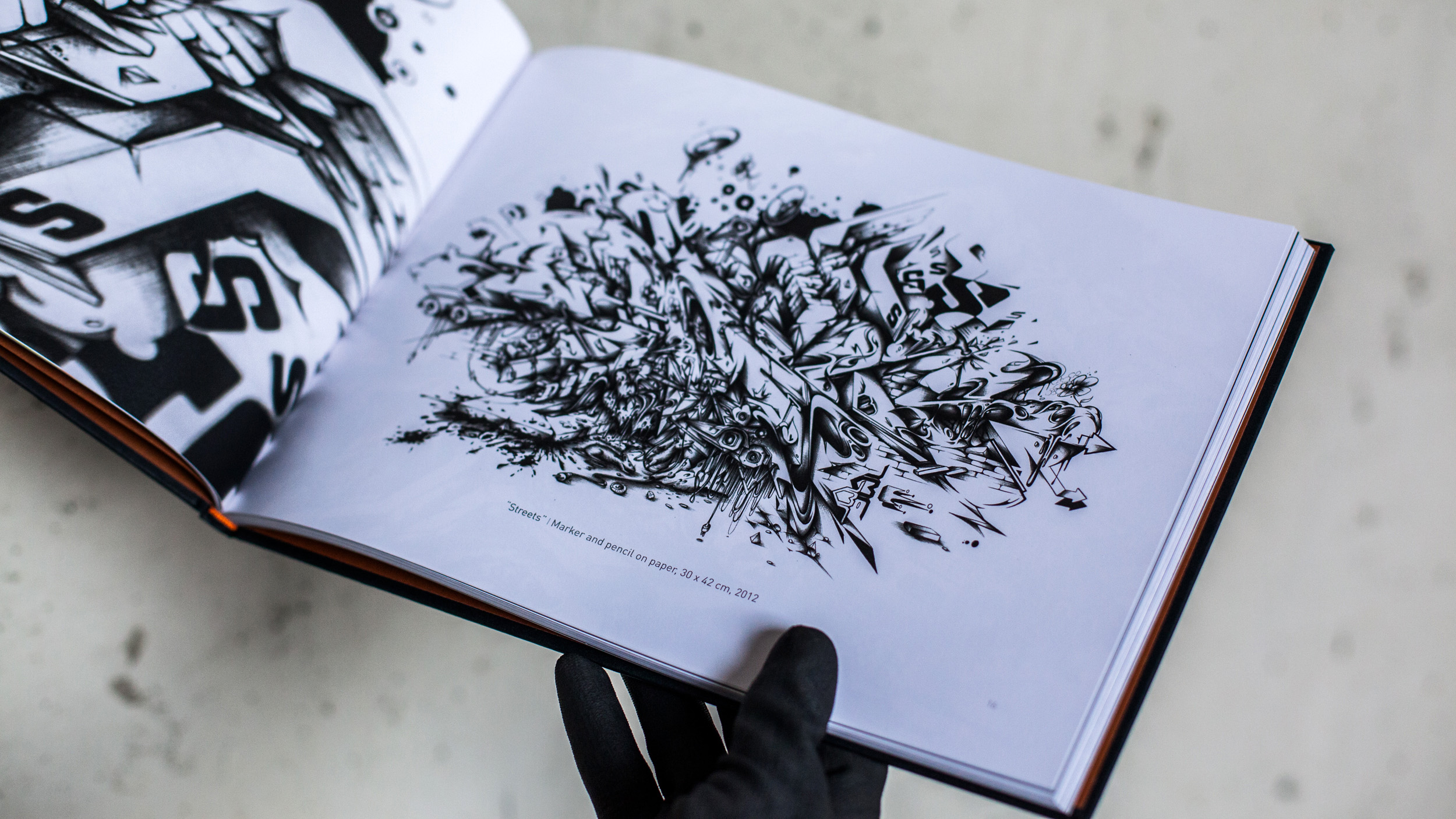 A work by Does - Qui facit creat book streets