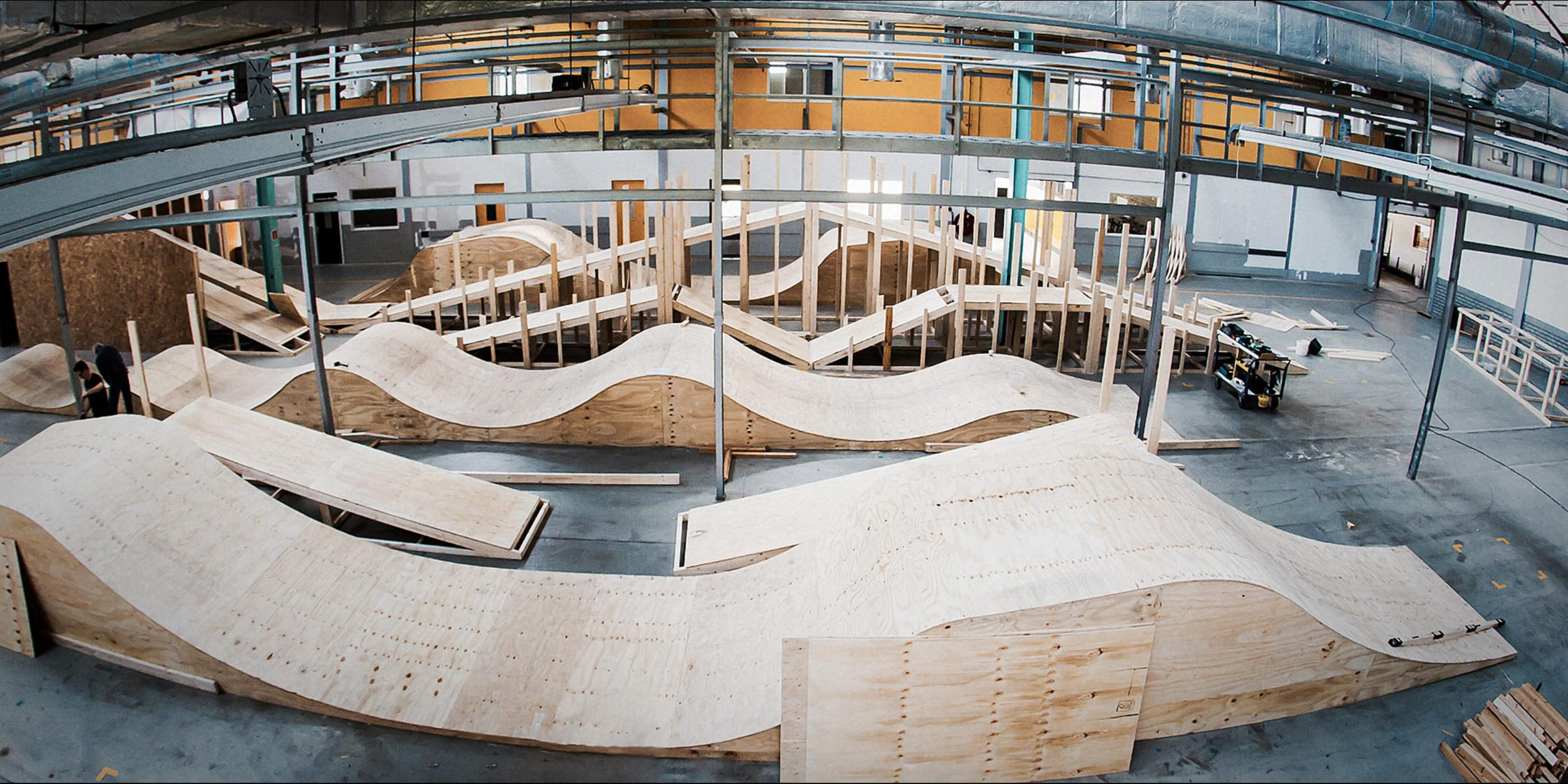 A work by Does - Wood 15 sittard the netherlands warehouse