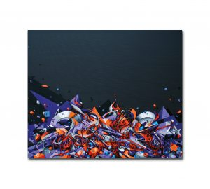 Up in flames canvas