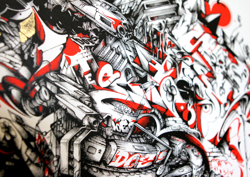 A work by Does - We built this city print 1 x run detail 2