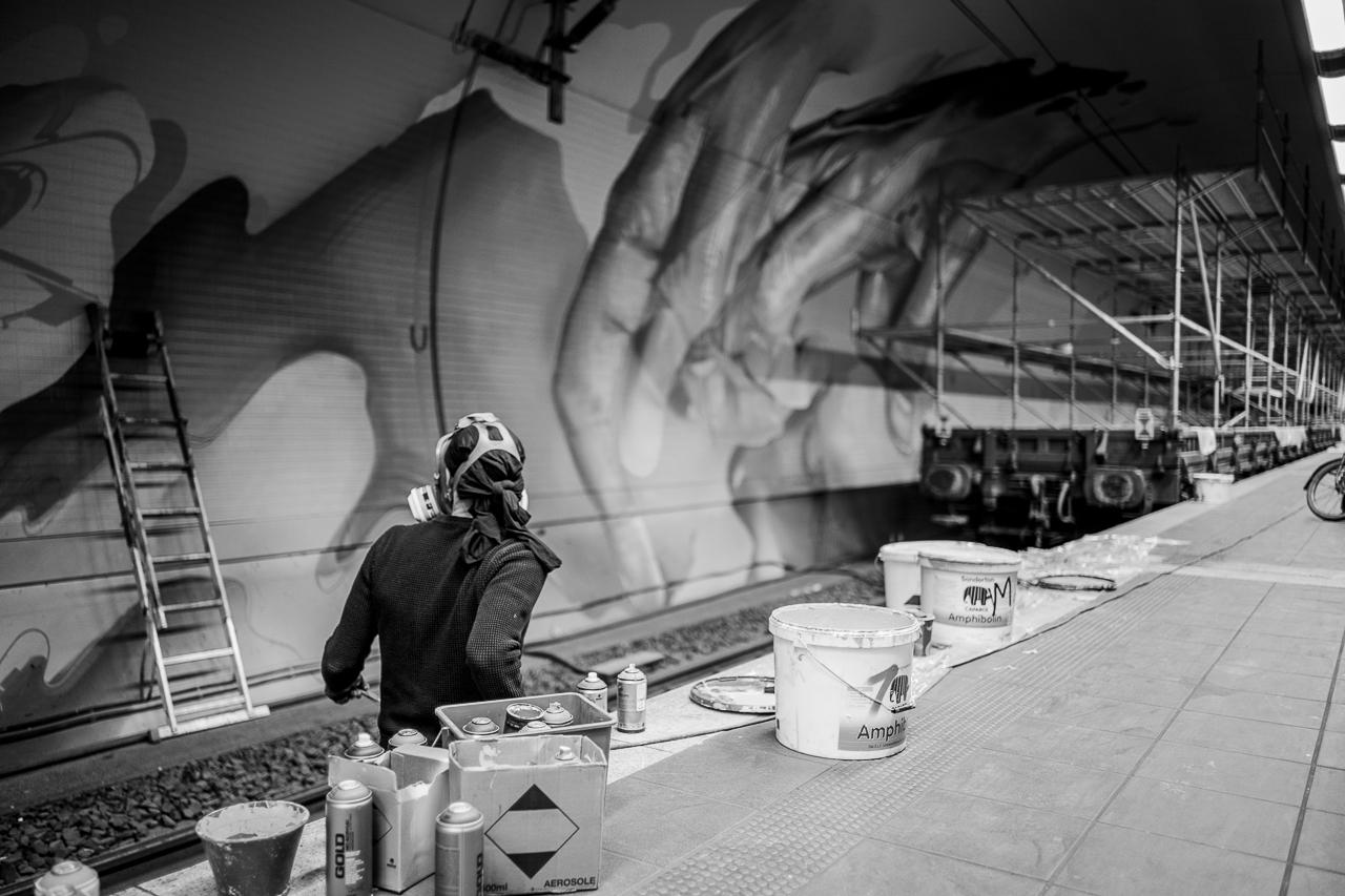 A work by Does - Ostendstrasse frankfurt germany tunnel rudi 12