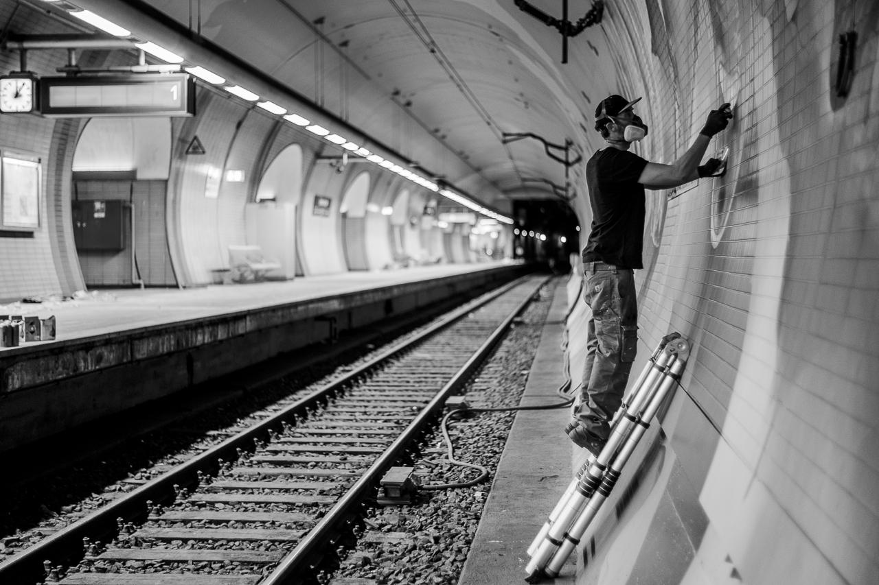 A work by Does - Ostendstrasse frankfurt germany tunnel rudi 9