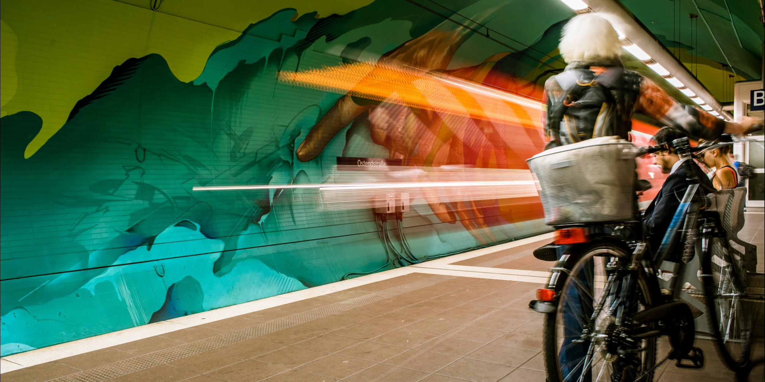 A work by Does - Ostendstrasse frankfurt germany tunnel 37