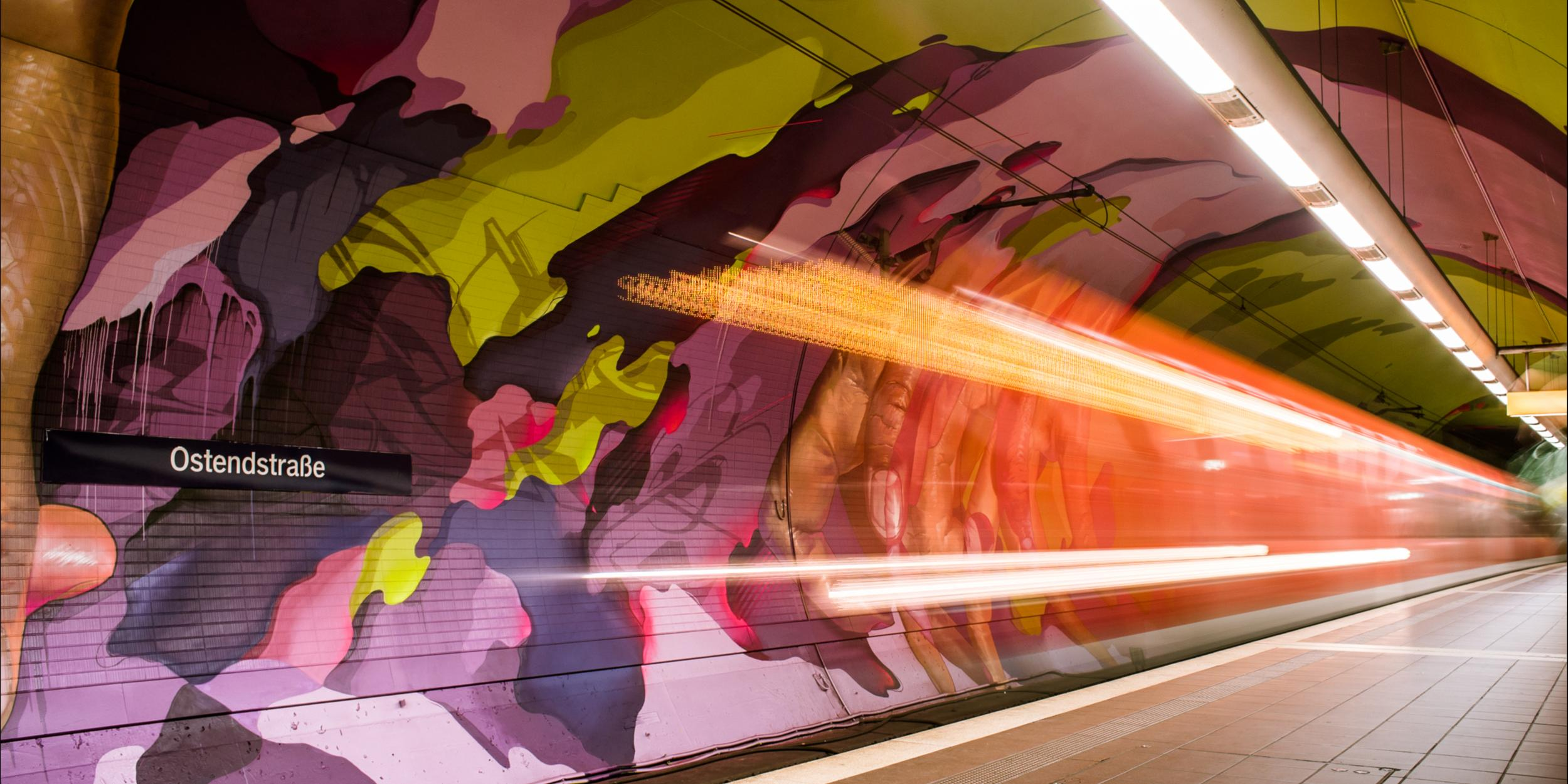 A work by Does - Ostendstrasse frankfurt germany tunnel 14