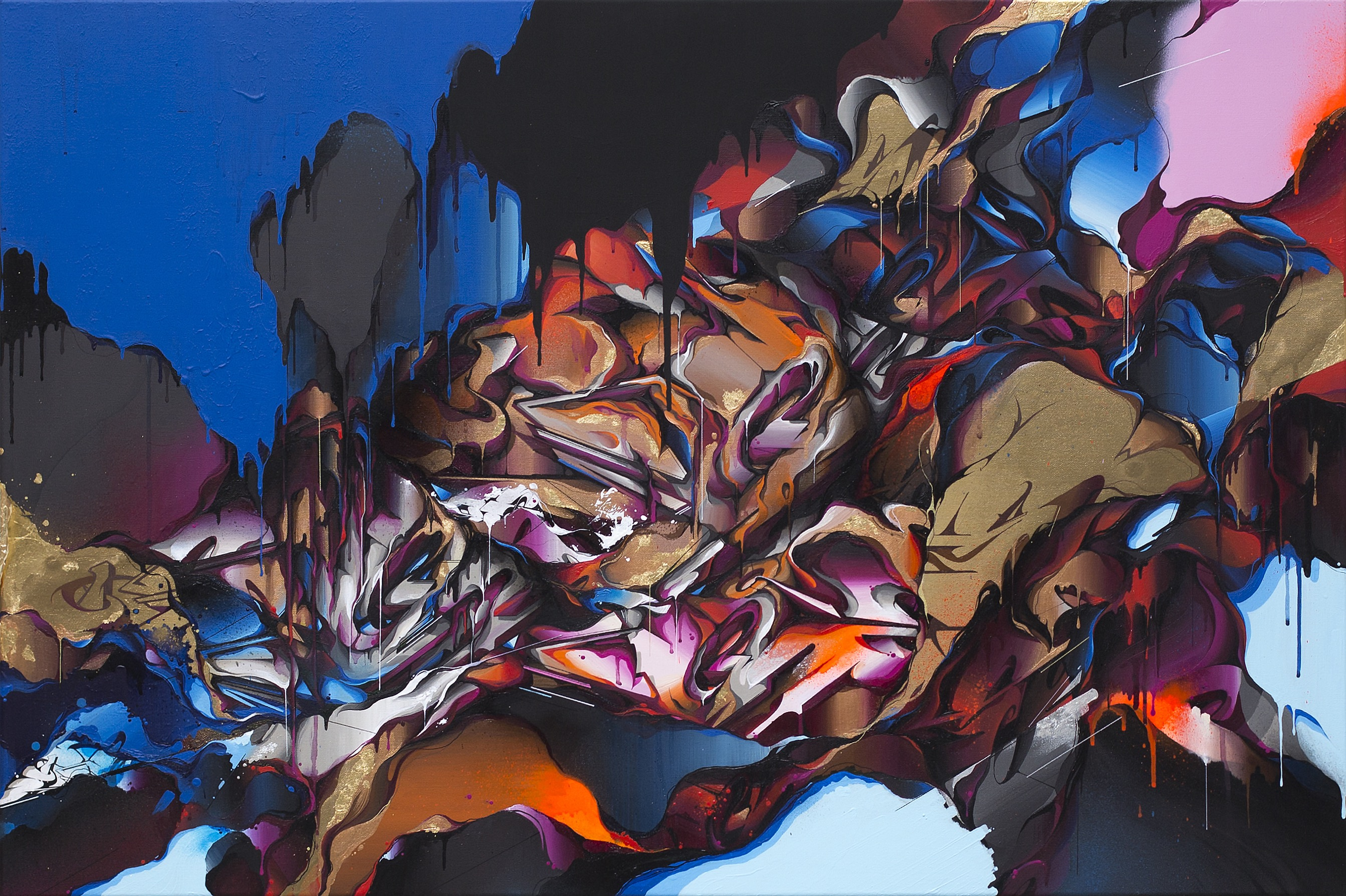 A work by Does - Tempest canvas wouter kooken