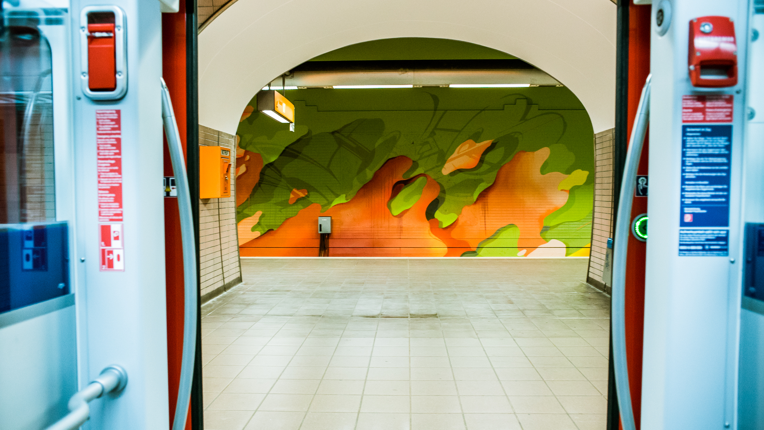 A work by Does - Ostendstrasse frankfurt germany tunnel 19