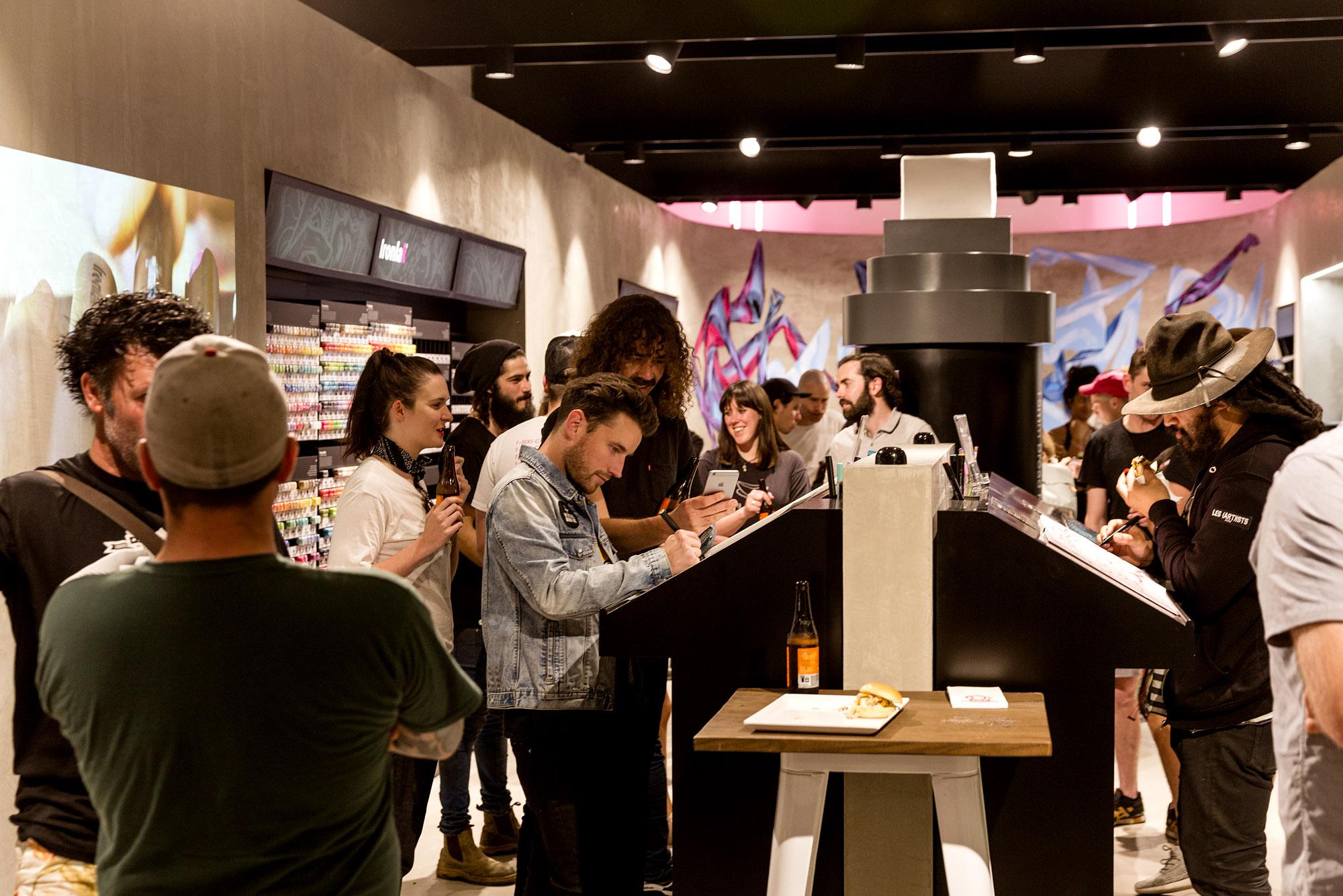 A work by Does - Opening night ironlak shop sydney 9
