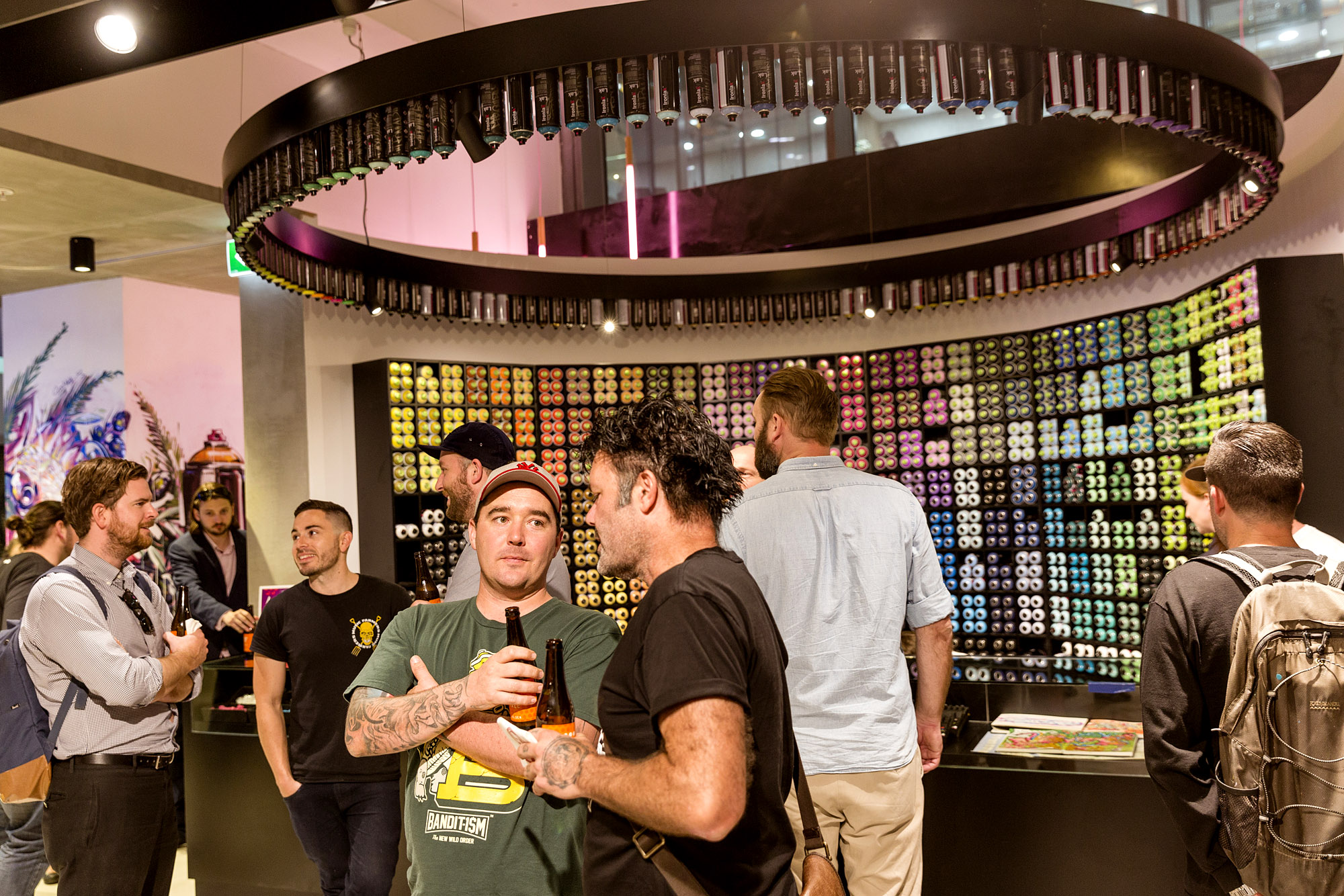 A work by Does - Opening night ironlak shop sydney 8