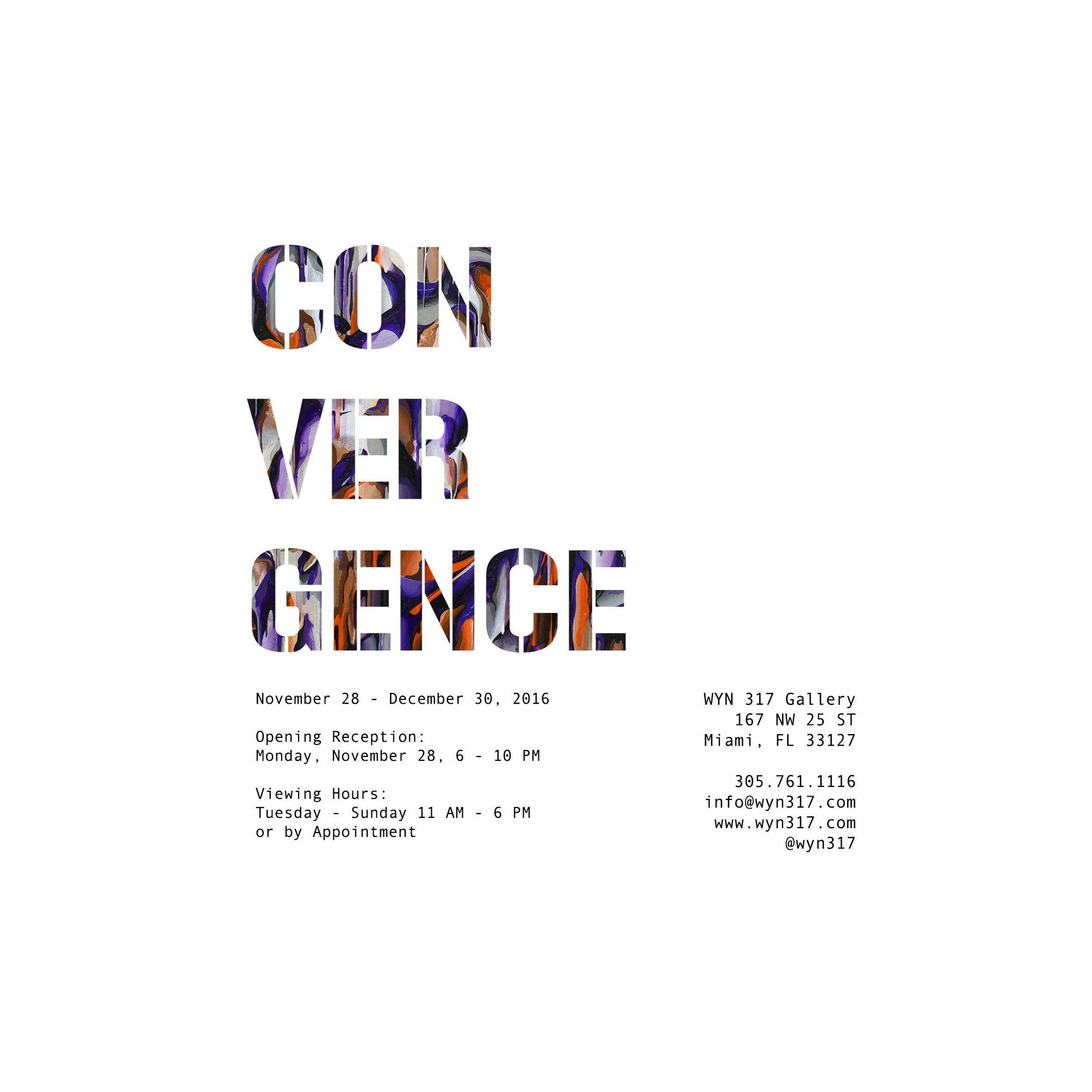 A work by Does - Flyer exhibition convergence art basel miami usa wyn 317