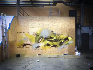 Progress mural sittard the netherlands wood 15