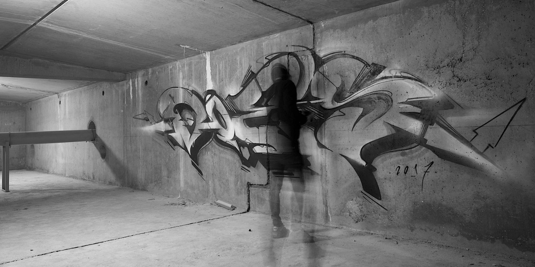 A work by Does - Paris france underground 1