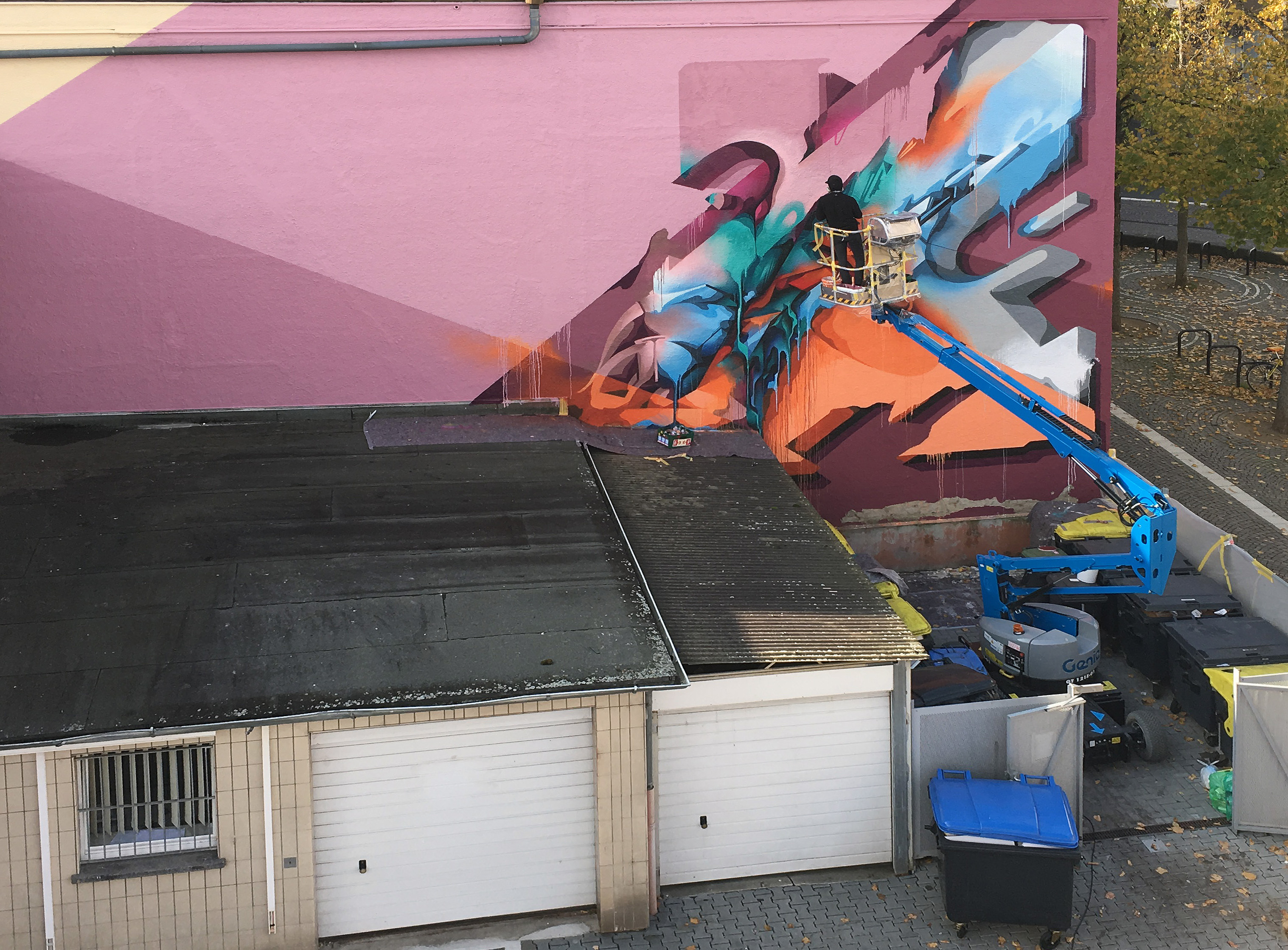 A work by Does - River tales giessen germany mural 5