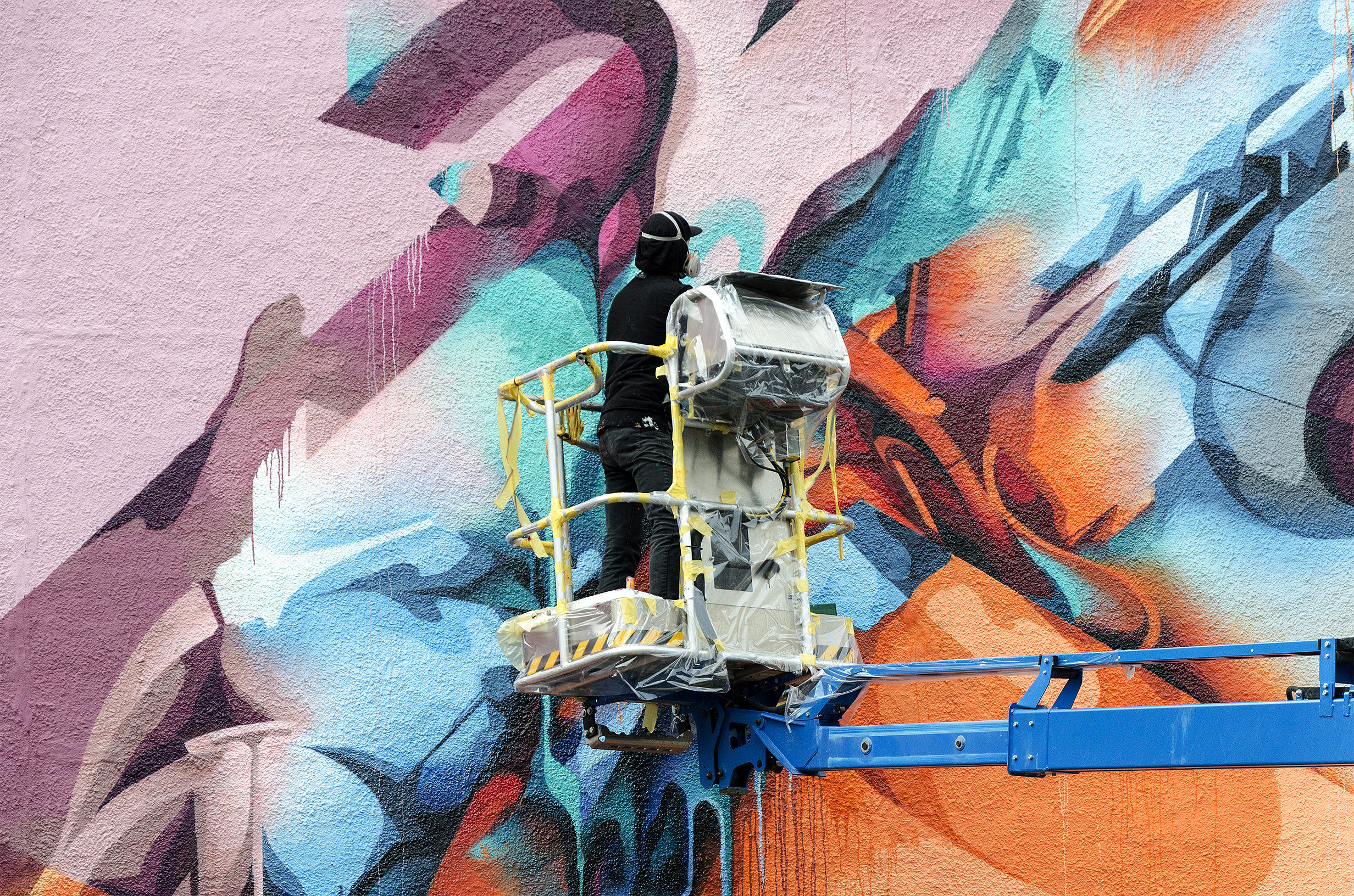 A work by Does - River tales giessen germany mural 2