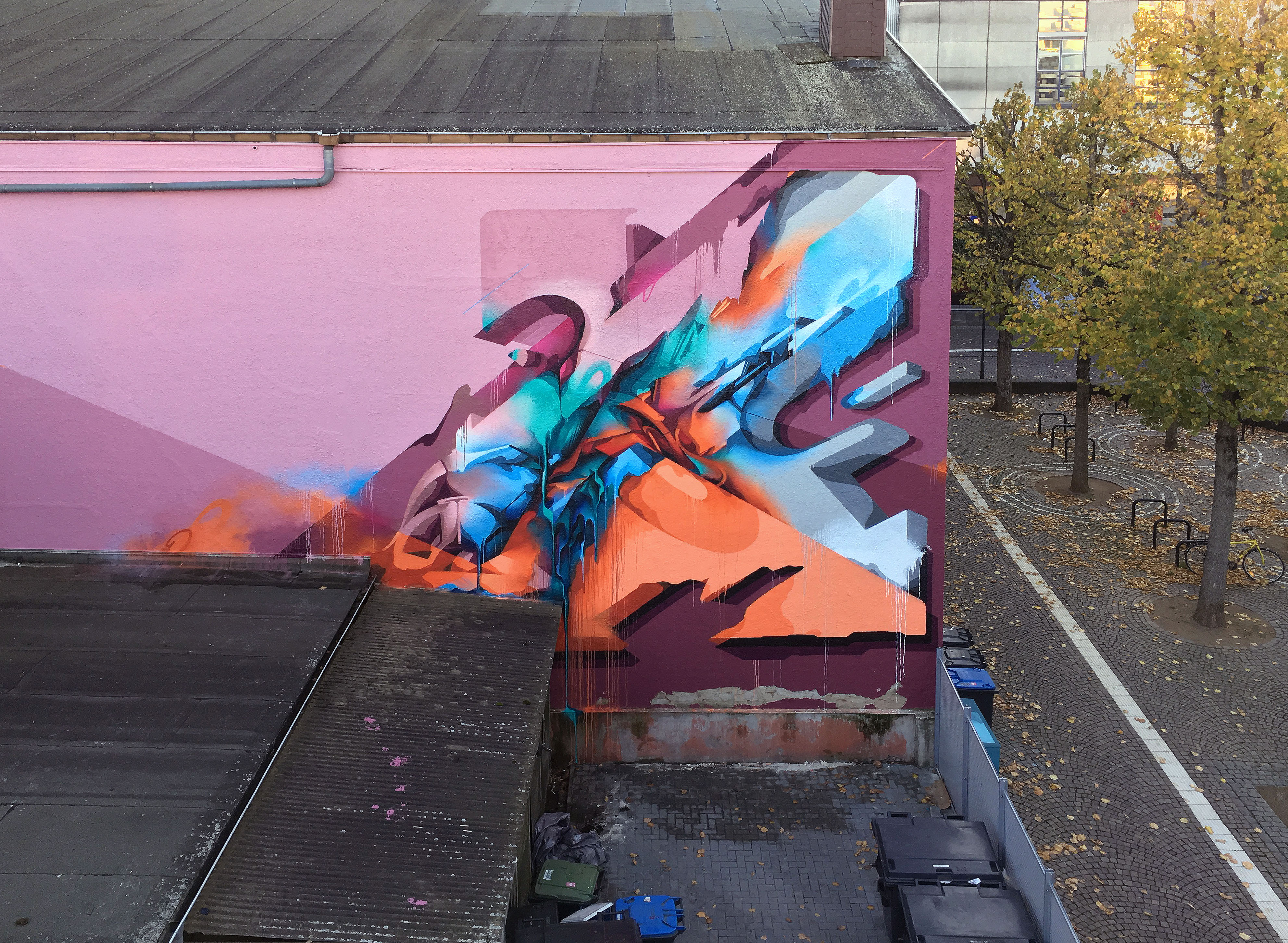 A work by Does - River tales giessen germany mural 4