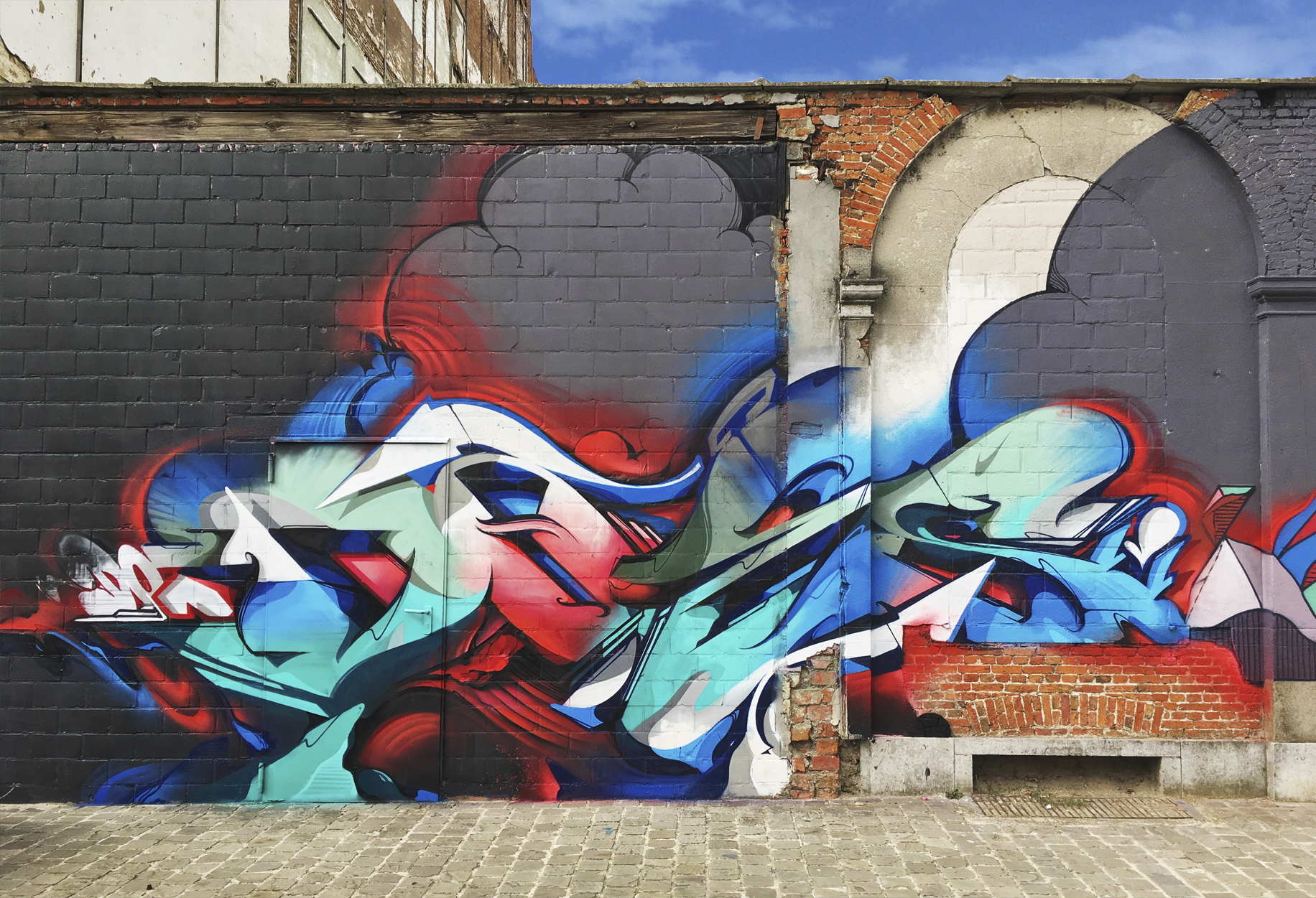 A work by Does - Antwerp, Belgium 2018