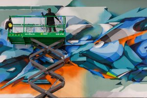 Luke Shirlaw (Artillery Projects) for Mural Oasis, Primm, Nevada - Project produced by The Mural Co