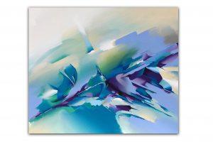 Canvas_'Violet Hill'_50X60cm