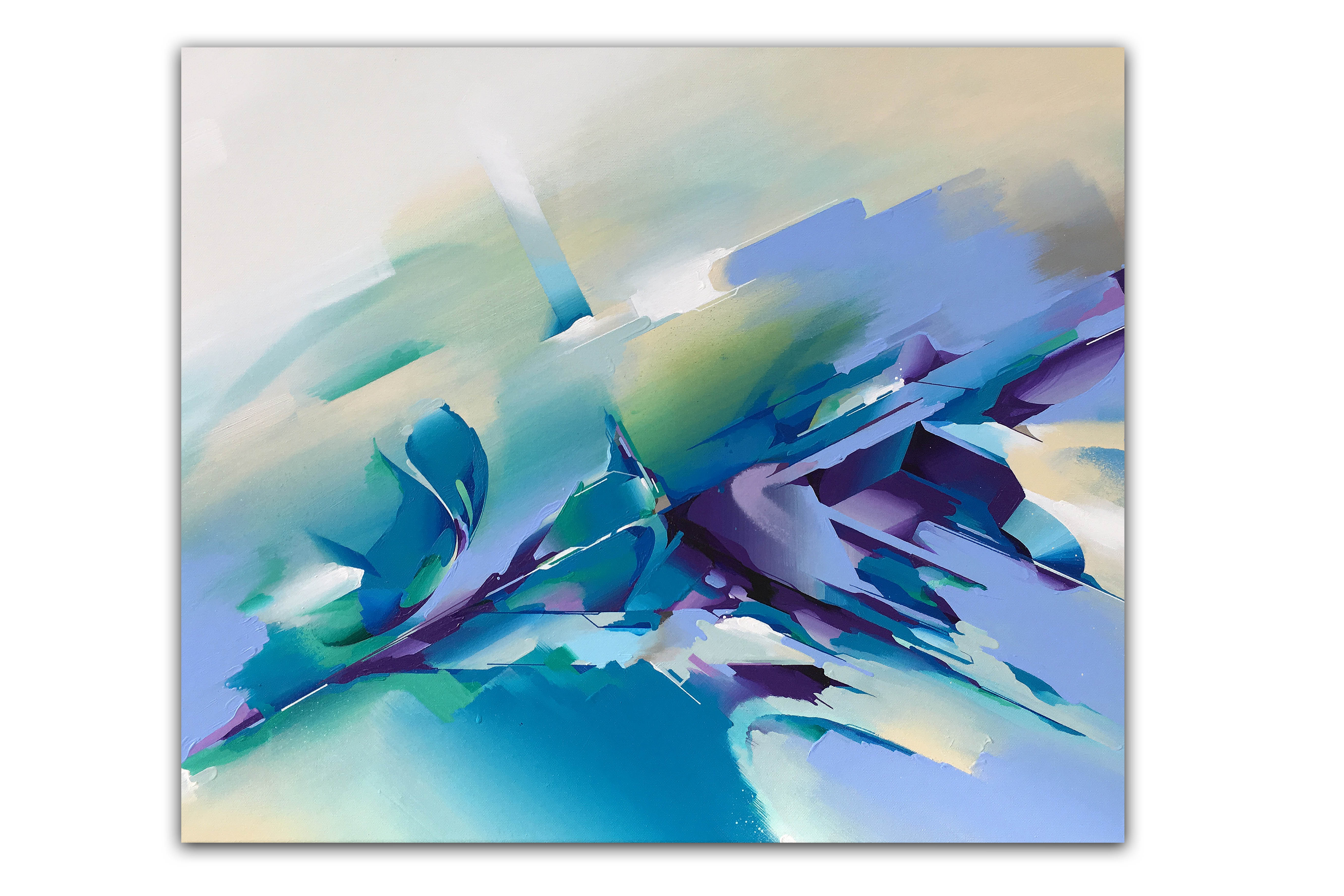 A work by Does - Canvas_'Violet Hill'_50X60cm